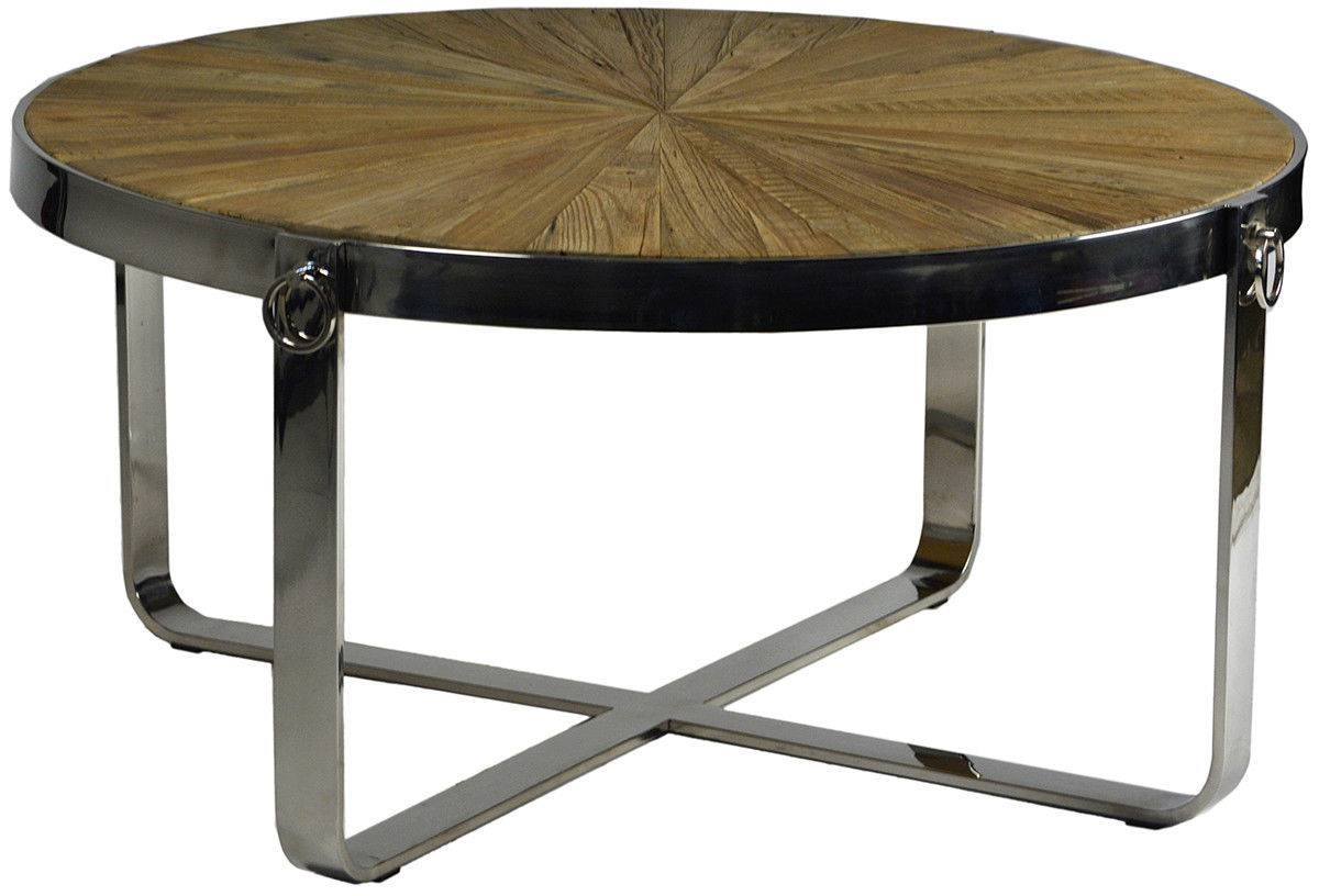 Midcentury Three Tier Round Chrome Coffee Table In The Style / Thippo pertaining to Round Chrome Coffee Tables (Image 20 of 30)