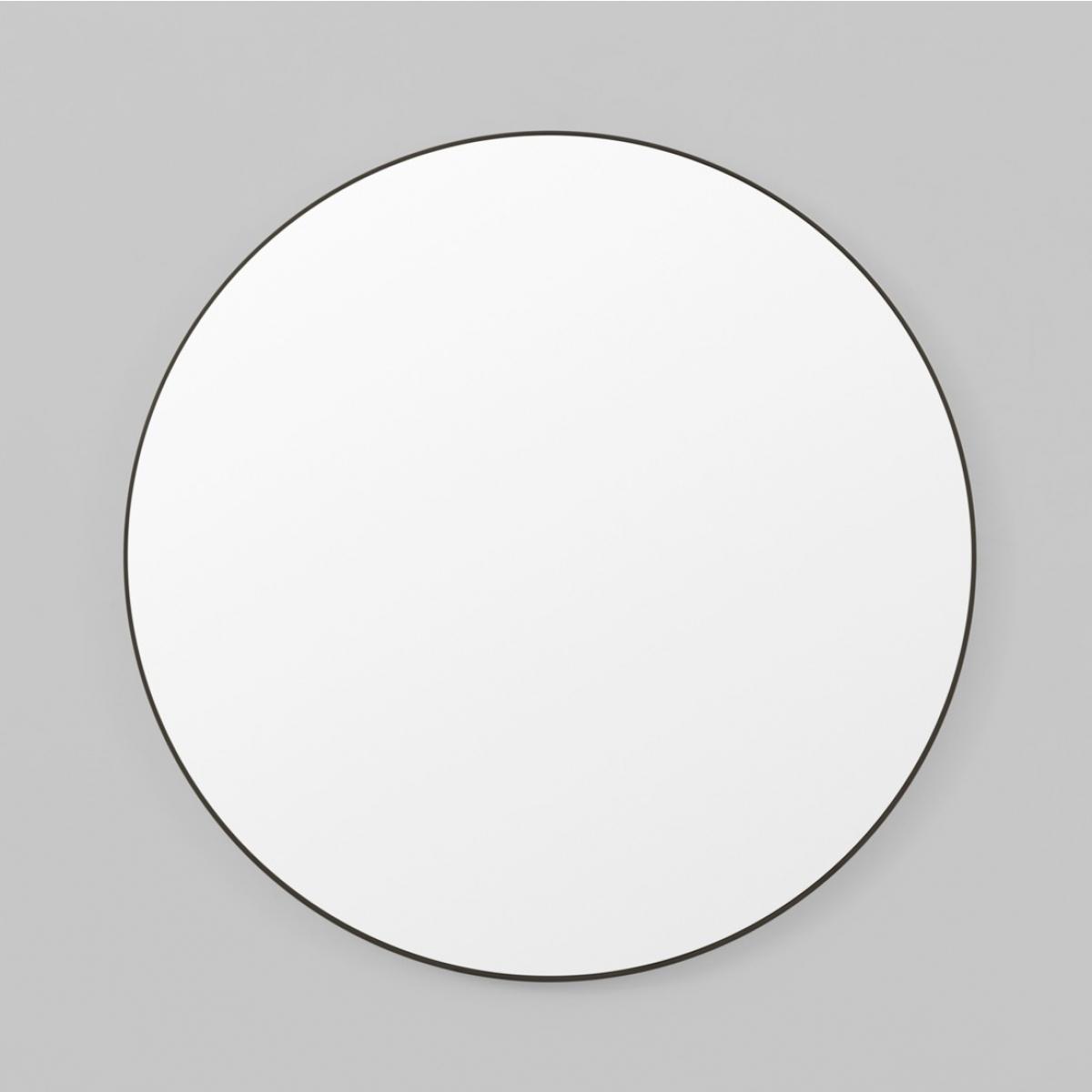 Middle Of Nowhere Flynn Round Mirror Black - 3 Sizes regarding Round Black Mirrors (Image 16 of 25)