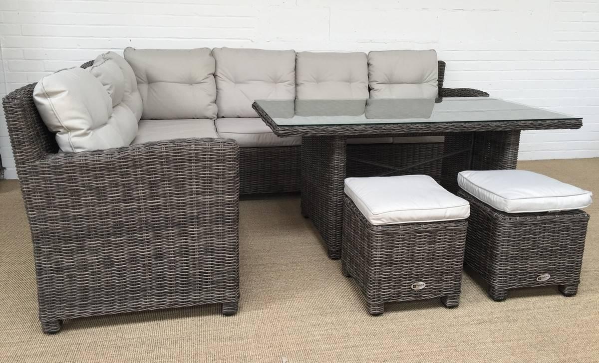 Milan Grey Corner Sofa Dining Table & Stool Set | Oakita Regarding Corner Sofa Chairs (View 24 of 30)