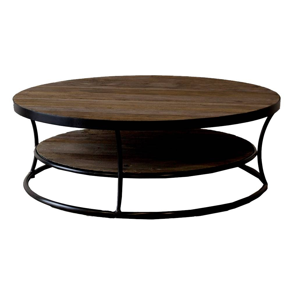 Milan Reclaimed Wood Round Coffee Table Buy Wooden Coffee Tables inside Cheap Wood Coffee Tables (Image 25 of 30)