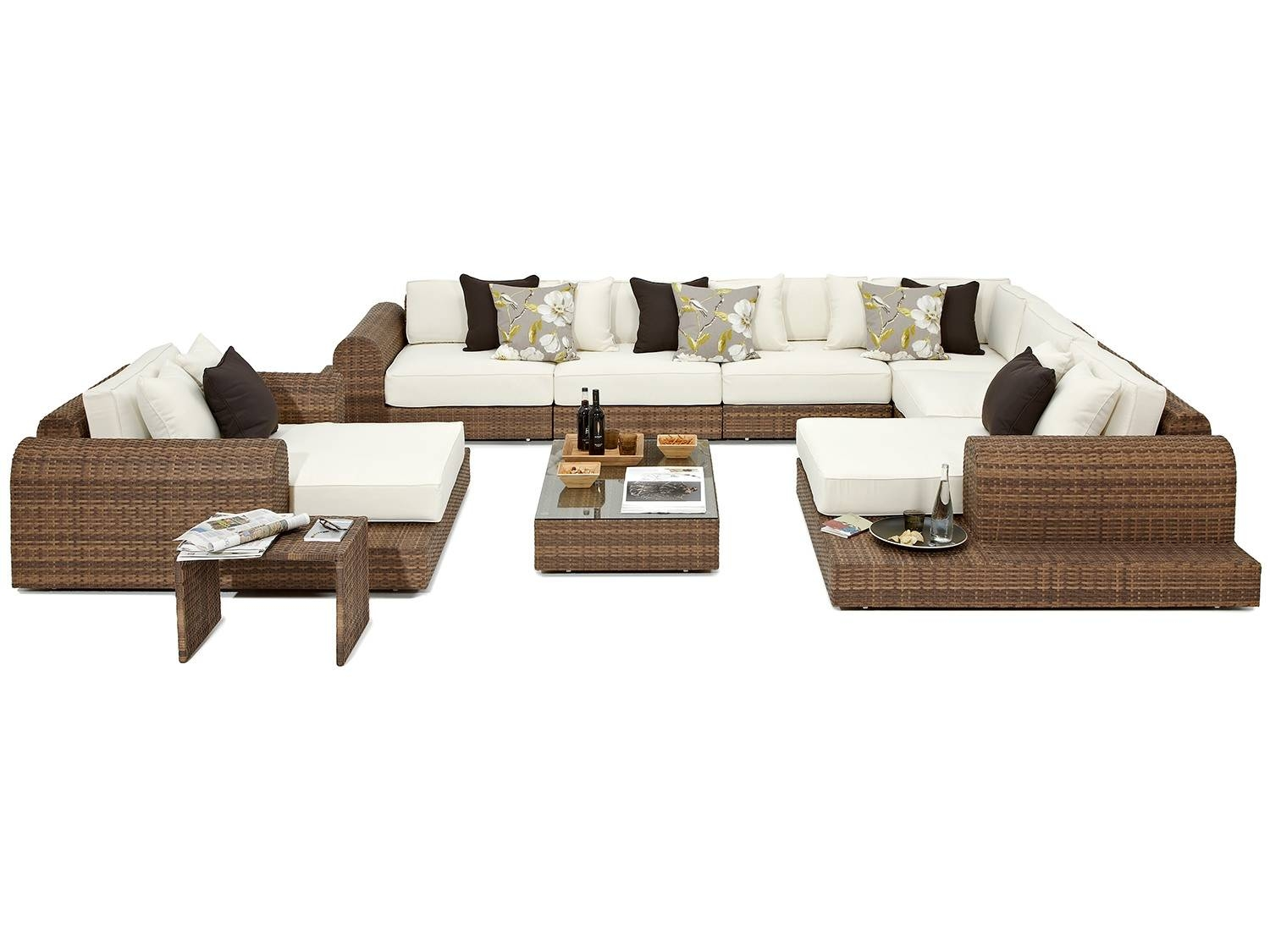 Milano Large Rattan Garden Corner Sofa And Chair pertaining to Corner Sofa Chairs (Image 25 of 30)