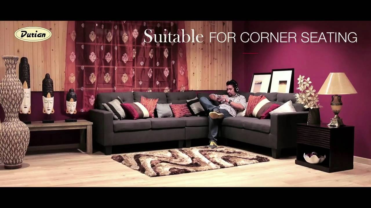 Miller L-Shaped Fabric Sofa From Durian - Youtube with L Shaped Fabric Sofas (Image 19 of 30)