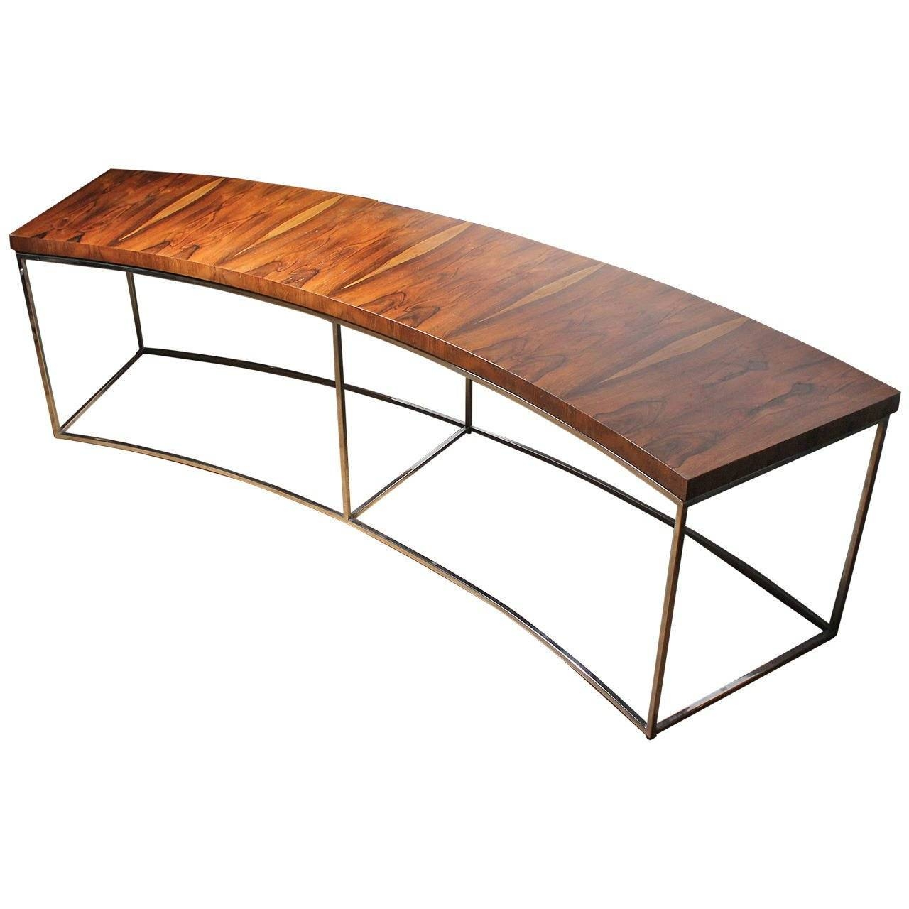 Milo Baughman Rosewood Curve Sofa Or Console Table At 1Stdibs In Curve Coffee Tables (View 24 of 30)