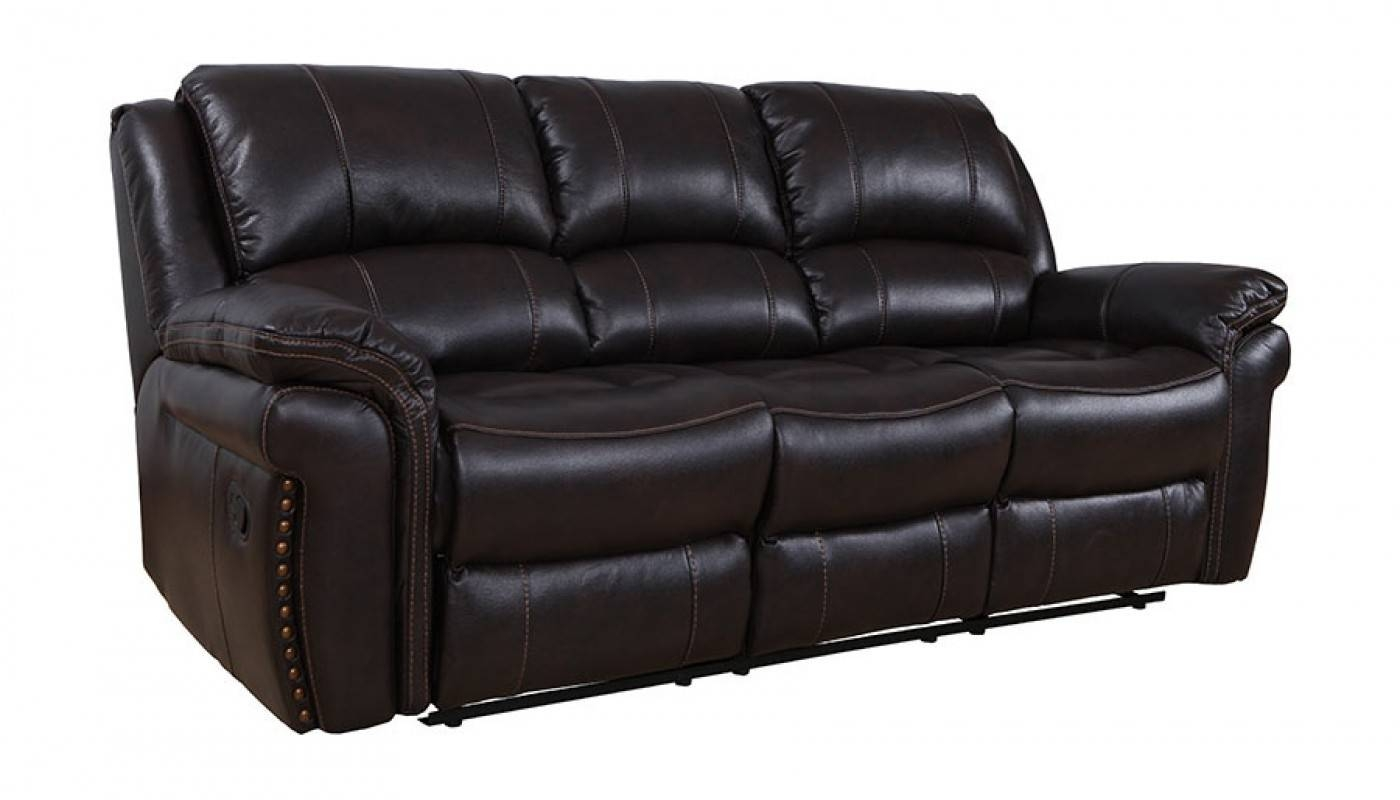 Milton Chocolate Reclining Sofa - Home Zone Furniture | Living Room within Recliner Sofa Chairs (Image 20 of 30)