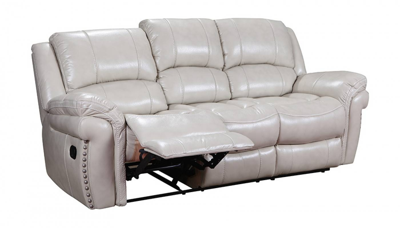 Milton Ivory Reclining Sofa - Home Zone Furniture | Living Room in Recliner Sofa Chairs (Image 21 of 30)