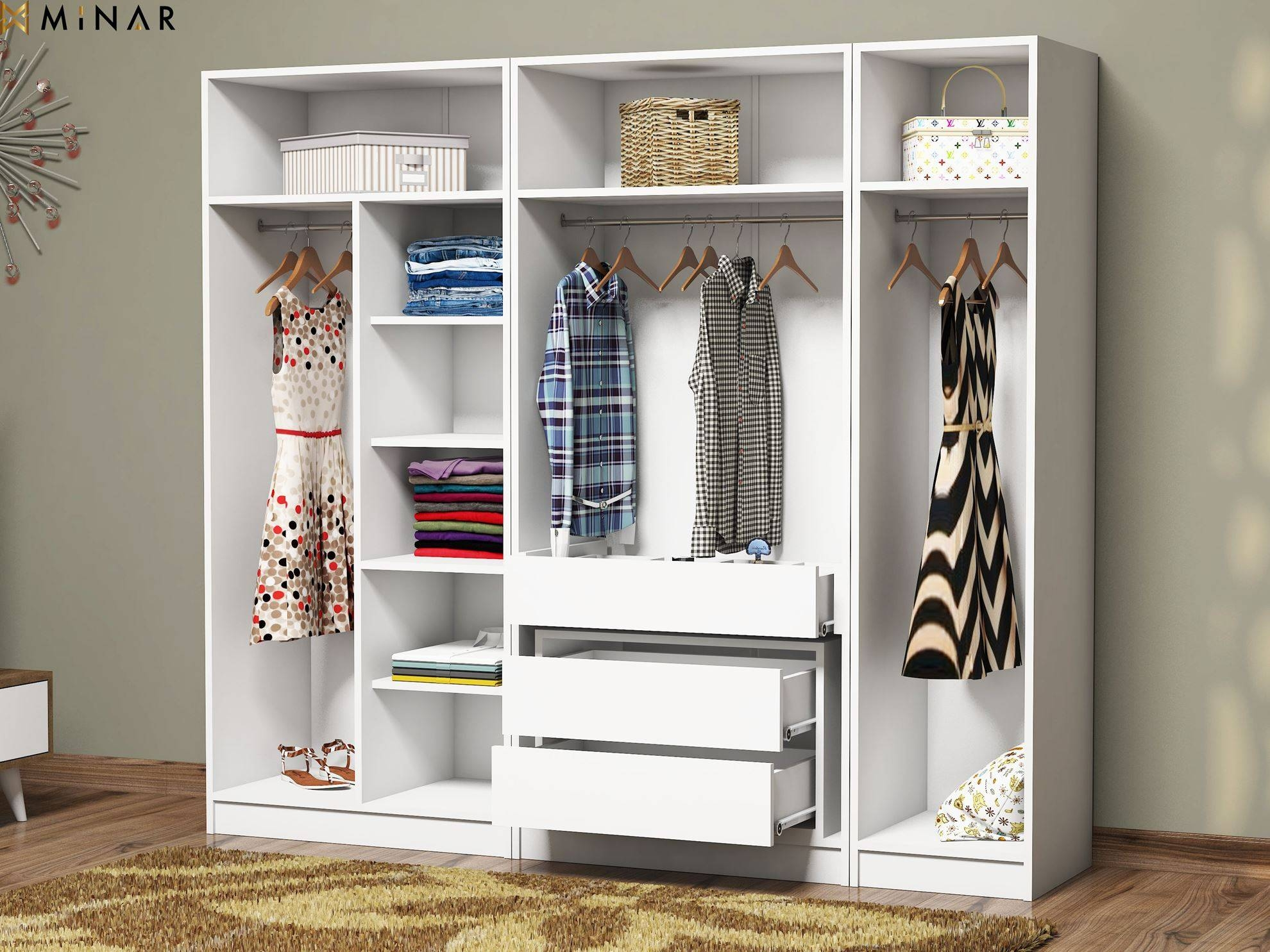 Minar Mobilya. Recently Viewed Products. Granikos 5 Doors 1 Hole 3 for Wardrobes With Drawers and Shelves (Image 19 of 30)