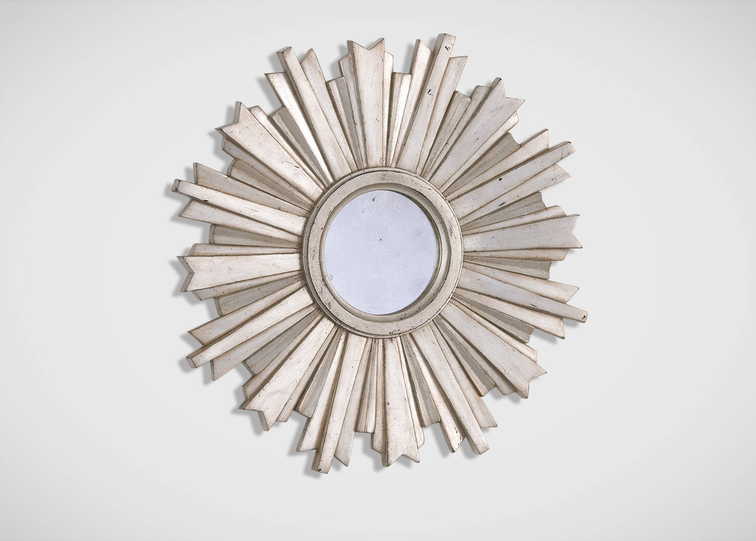 Mini Silver Starburst Mirror | Mirrors pertaining to Small Silver Mirrors (Image 16 of 25)