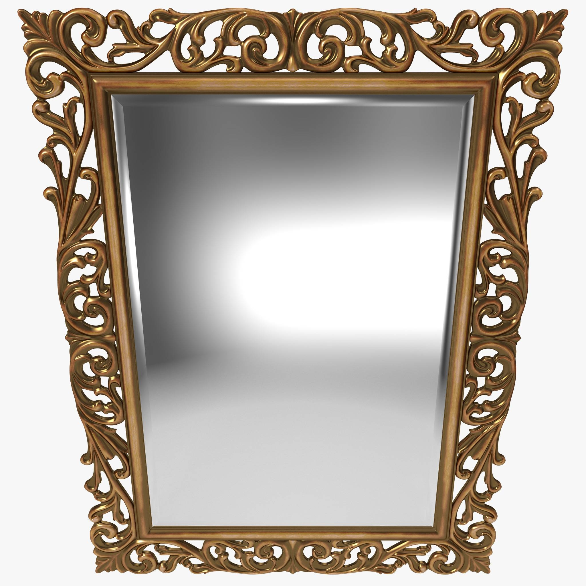 Mirror 3D Models | Turbosquid for Gold Ornate Mirrors (Image 15 of 25)