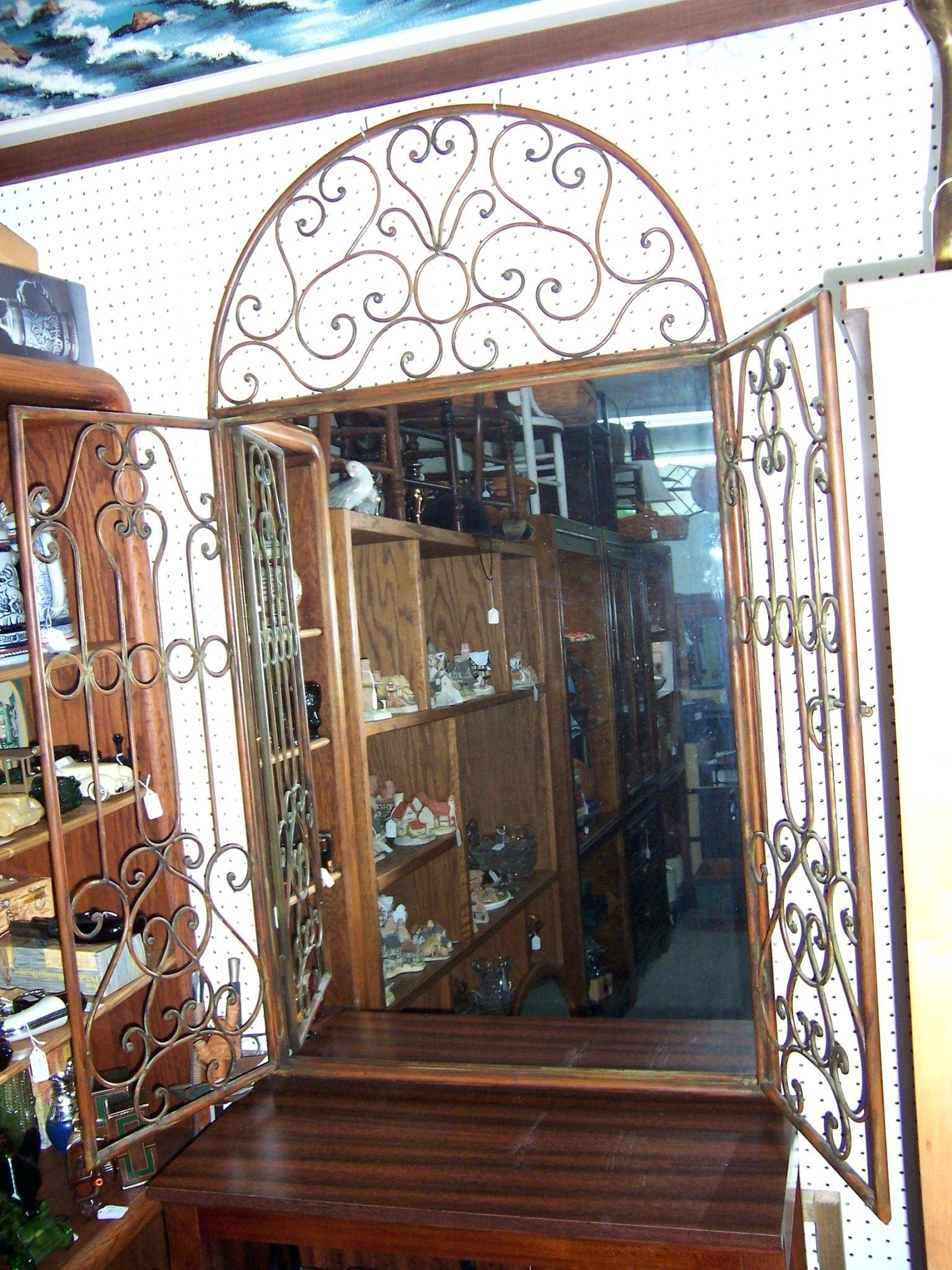 Mirror A Wrought Ironwrought Iron Wall Designs Full Length with Wrought Iron Full Length Mirrors (Image 14 of 25)