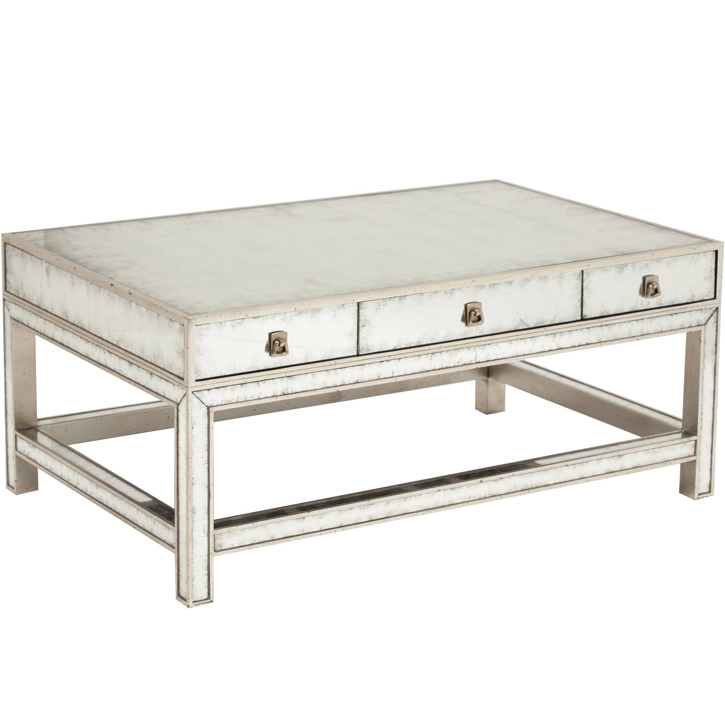 Mirror Coffee Table. Two Tiered Brass Framed Glass Round Coffee for Oval Mirrored Coffee Tables (Image 17 of 30)