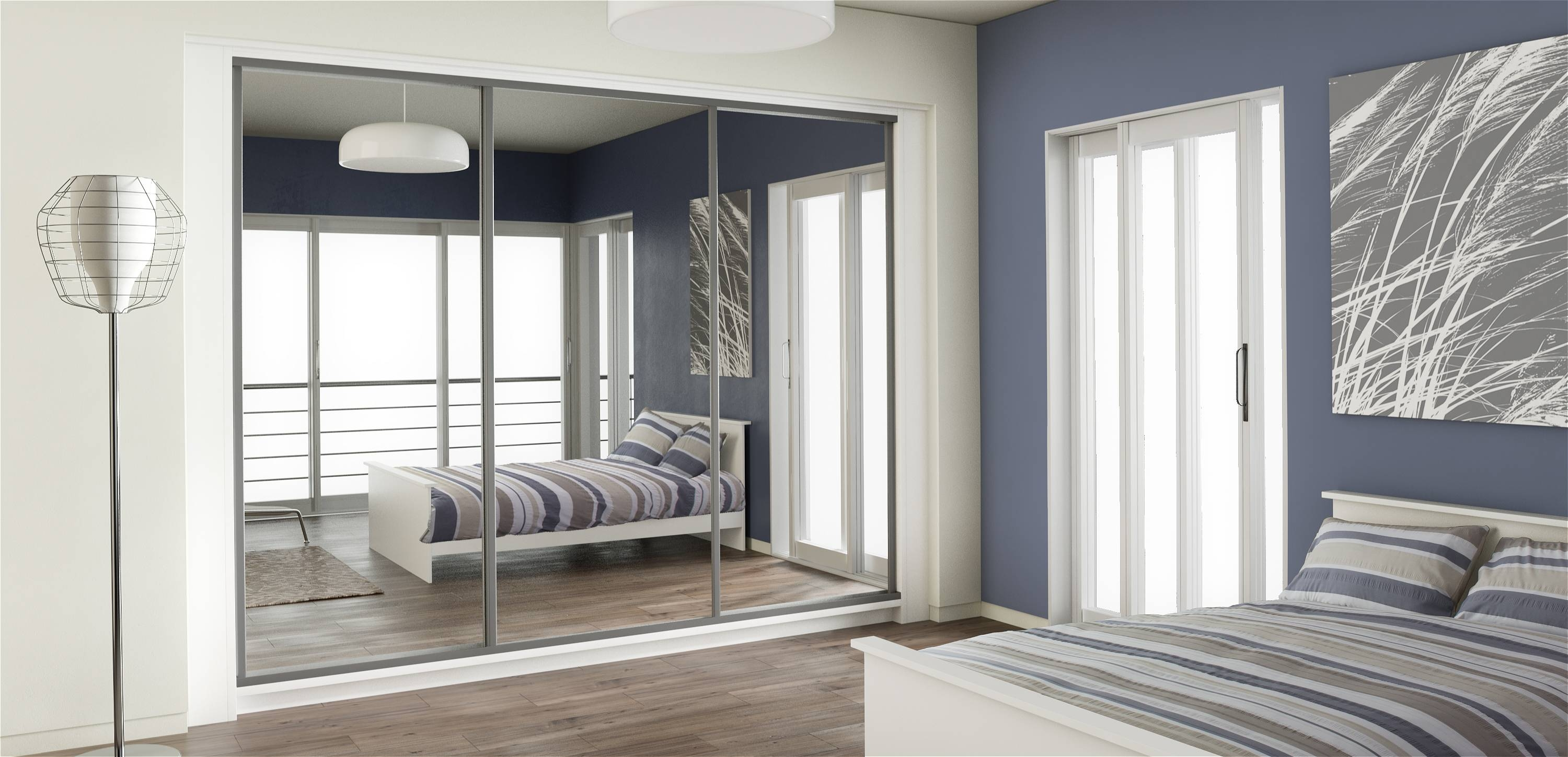 Mirror Design Ideas: Robes Brand Bedroom Mirrored Wardrobes Lens intended for Full Mirrored Wardrobes (Image 6 of 15)