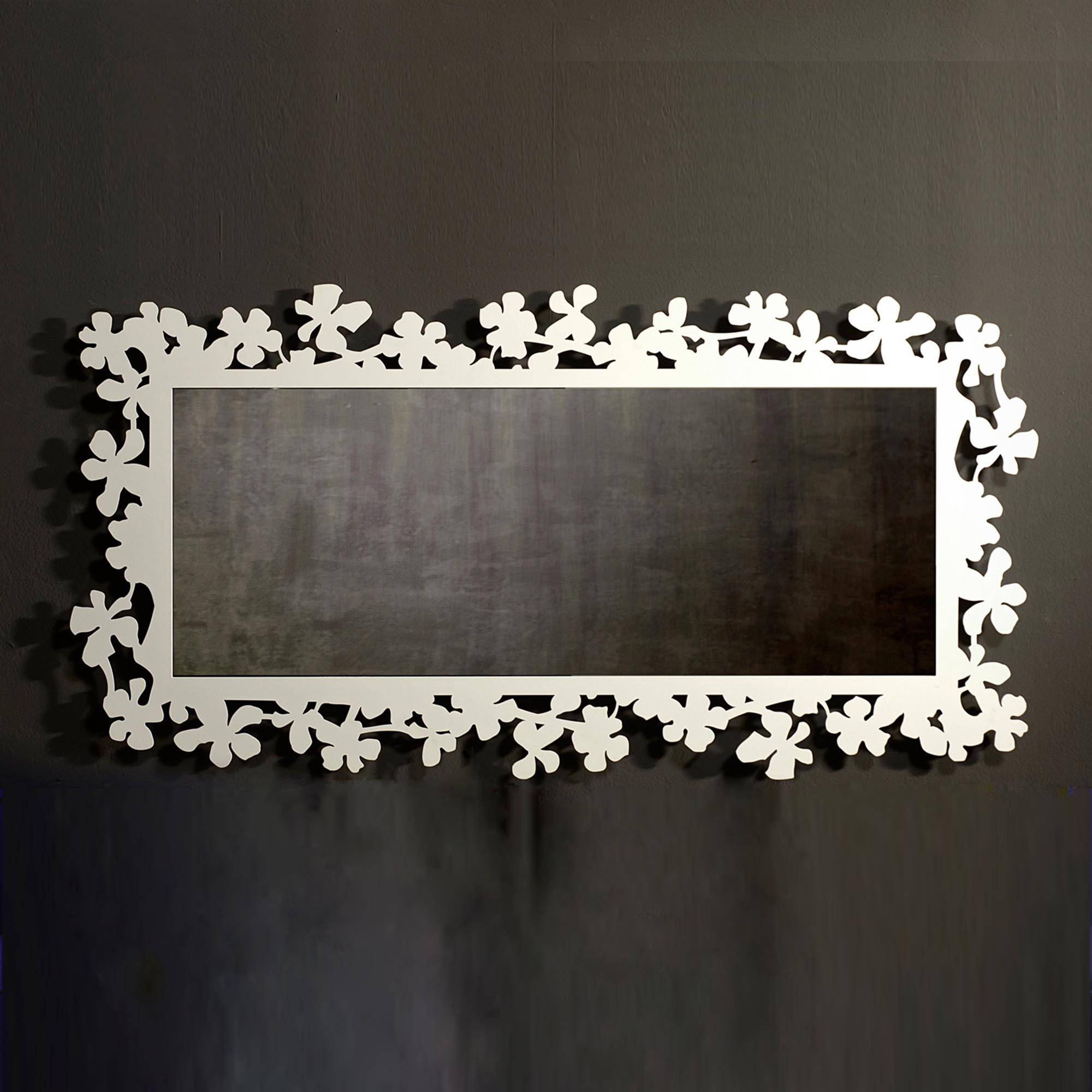 Mirror Flowercosatto Designed With Flower-Shaped Decorations inside Large Landscape Mirrors (Image 18 of 25)