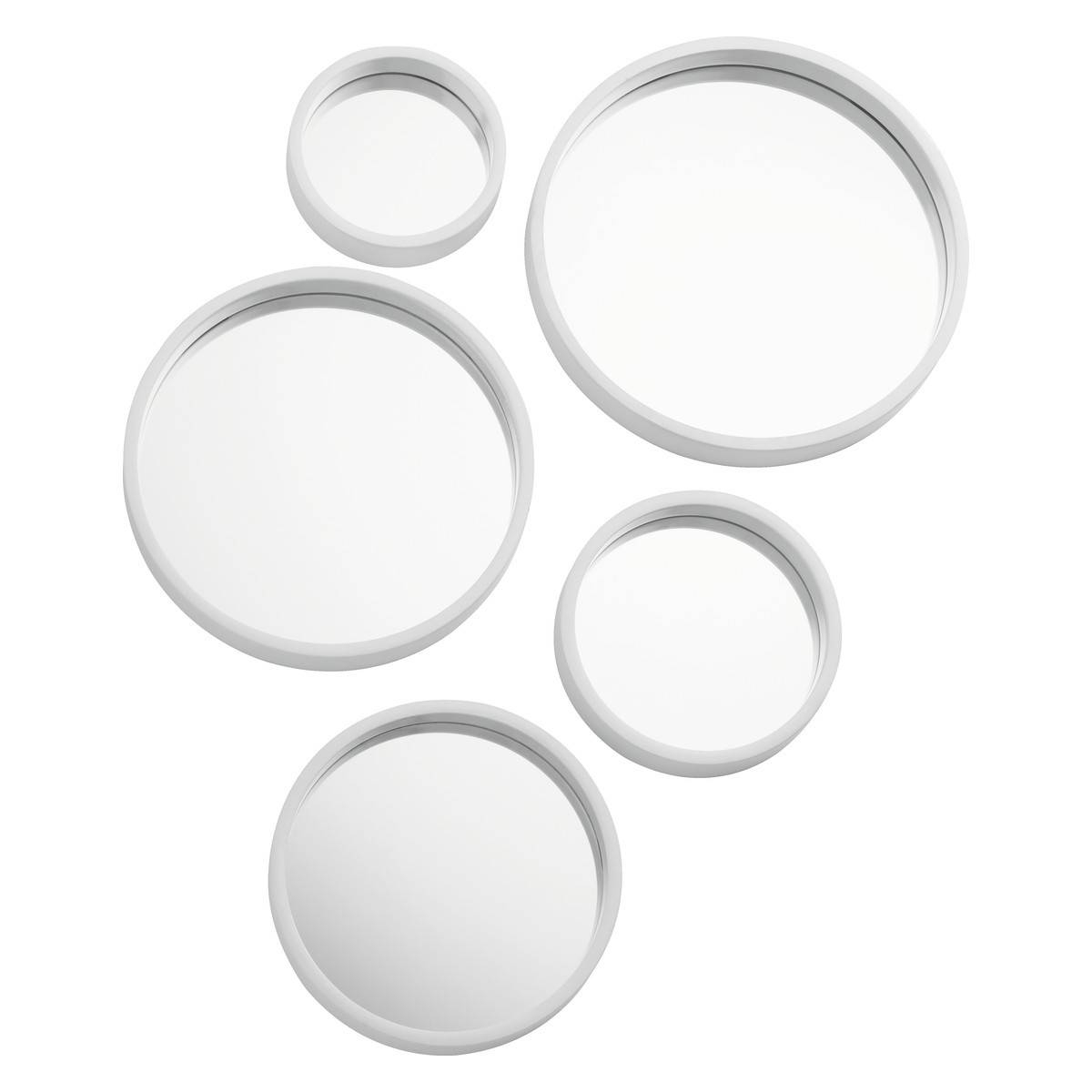 Mirror Mirror Set Of 5 White Round Mirrors | Buy Now At Habitat Uk with regard to Black Circle Mirrors (Image 16 of 25)