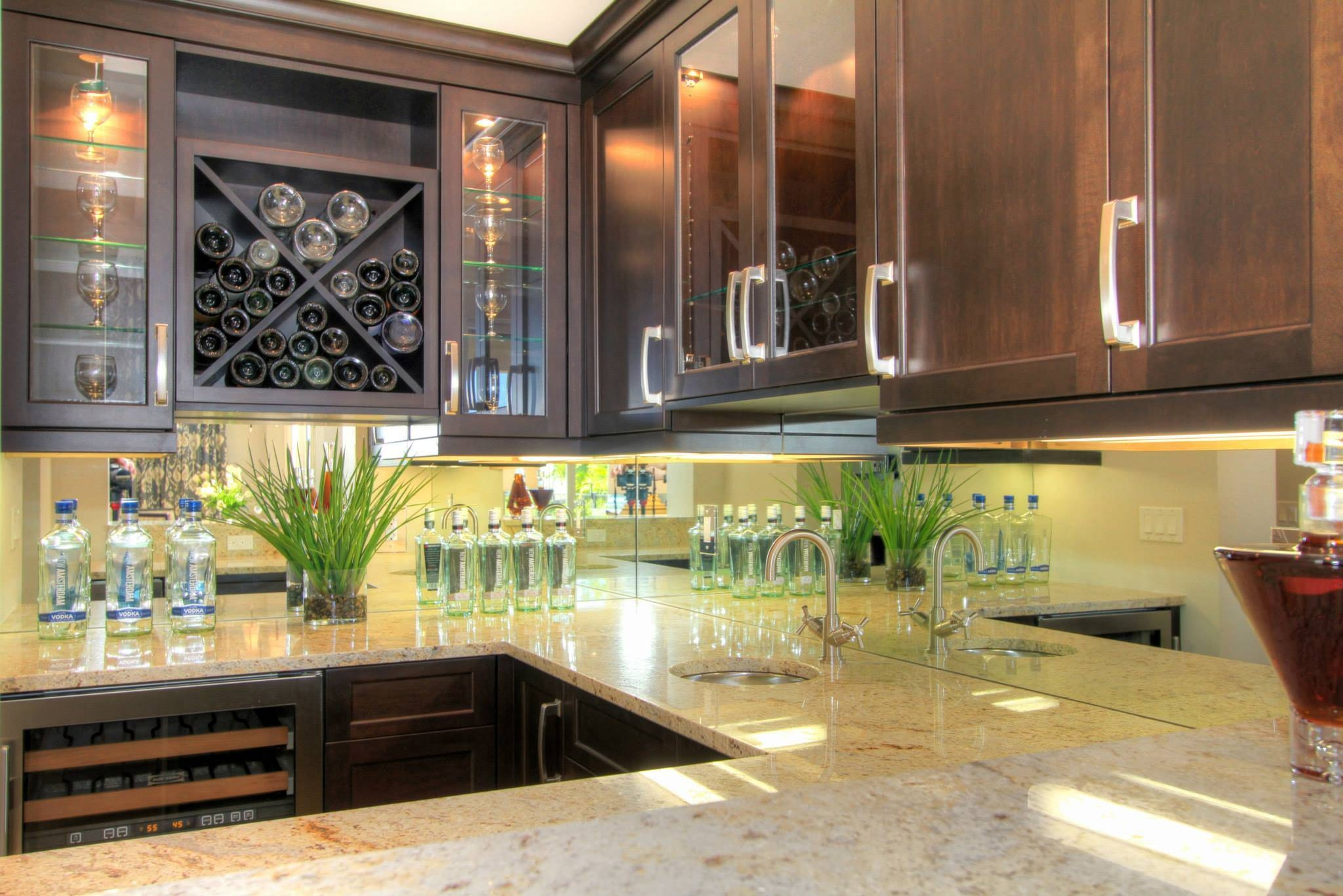 Mirror Or Glass Backsplash | The Glass Shoppe A Division Of Inside Cream Antique Mirrors (View 19 of 25)