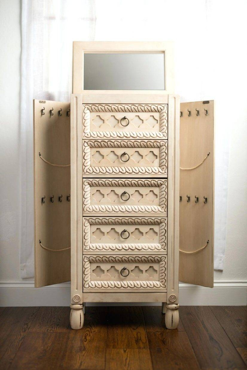 Mirror With Jewelry Armoire Abby Storage Ideas – Blackcrow intended for Wicker Armoire Wardrobes (Image 11 of 15)