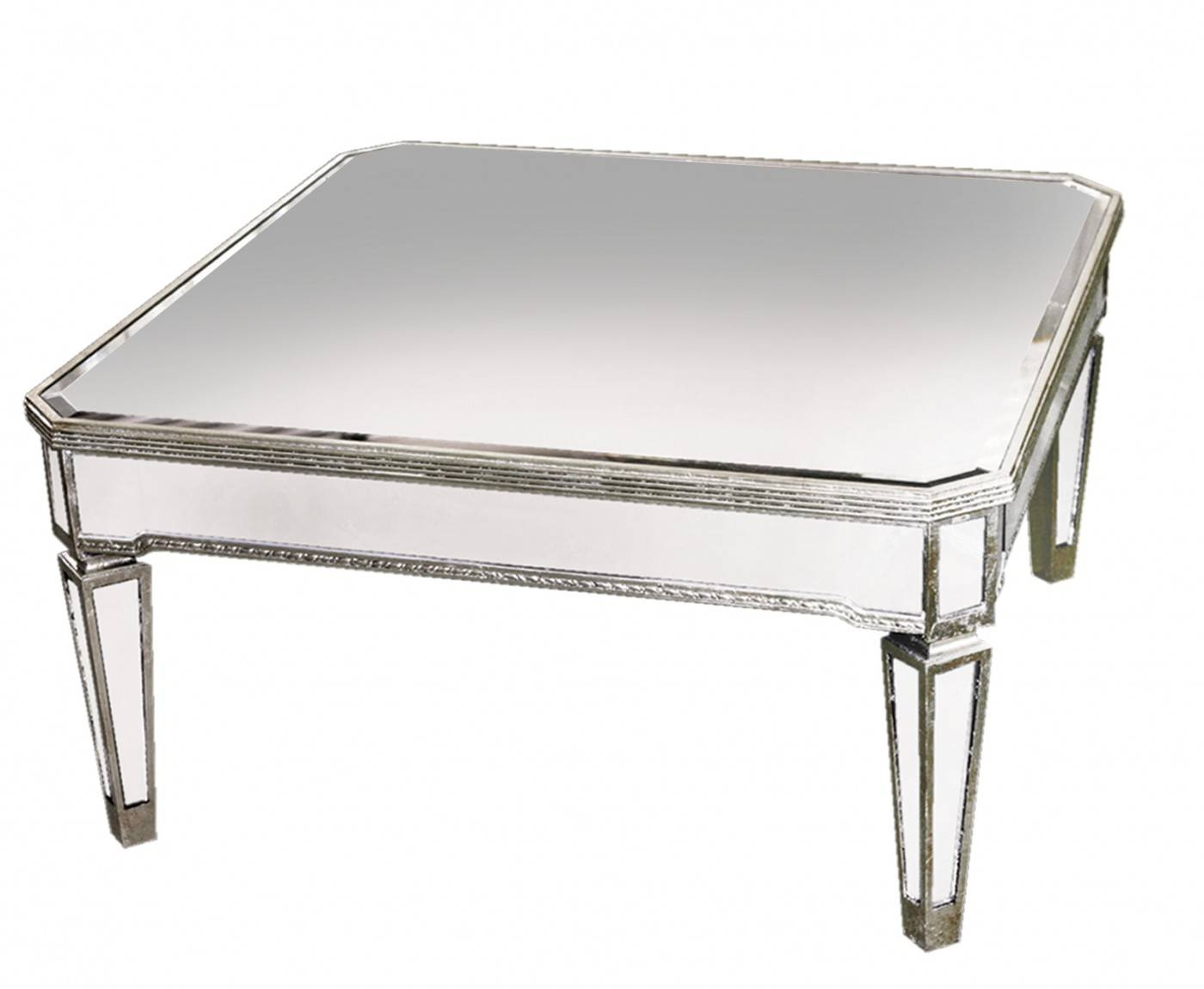 Mirrored Coffee Table With Silver ~ Home Decorations : Mirrored intended for Vintage Mirror Coffee Tables (Image 19 of 30)