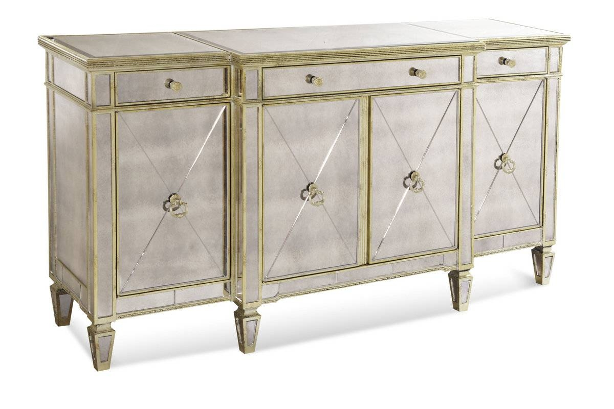 Mirrored Sideboards And Buffets – Harpsounds.co in Venetian Mirrored Sideboards (Image 14 of 30)