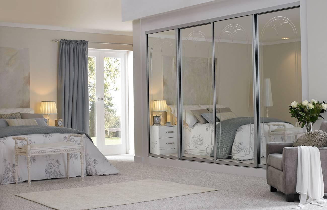 Mirrored Sliding Wardrobe Doors Uk La 2 Door Sliding Wardrobe With for Mirror Wardrobes (Image 6 of 15)