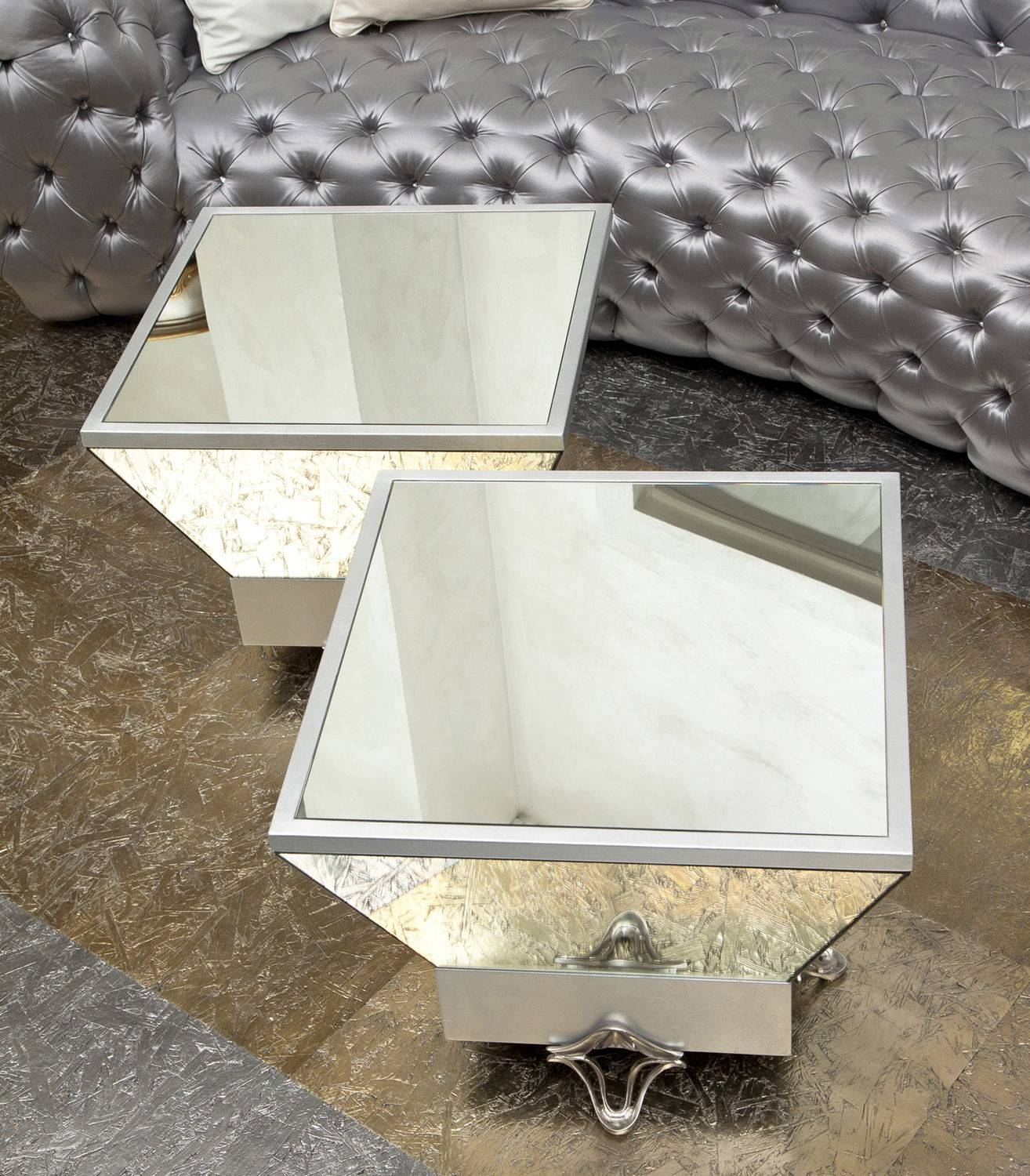 Mirrored Trunk Coffee Table – Harpsounds.co in Silver Trunk Coffee Tables (Image 17 of 30)
