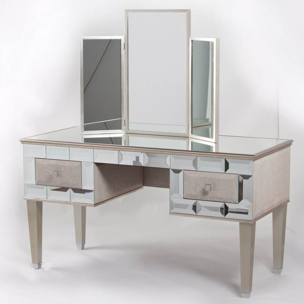 Mirrored Vanity Table Furniture Sydney : Mirrored Vanity Desk With Regard To Contemporary Dressing Table Mirrors (View 22 of 25)