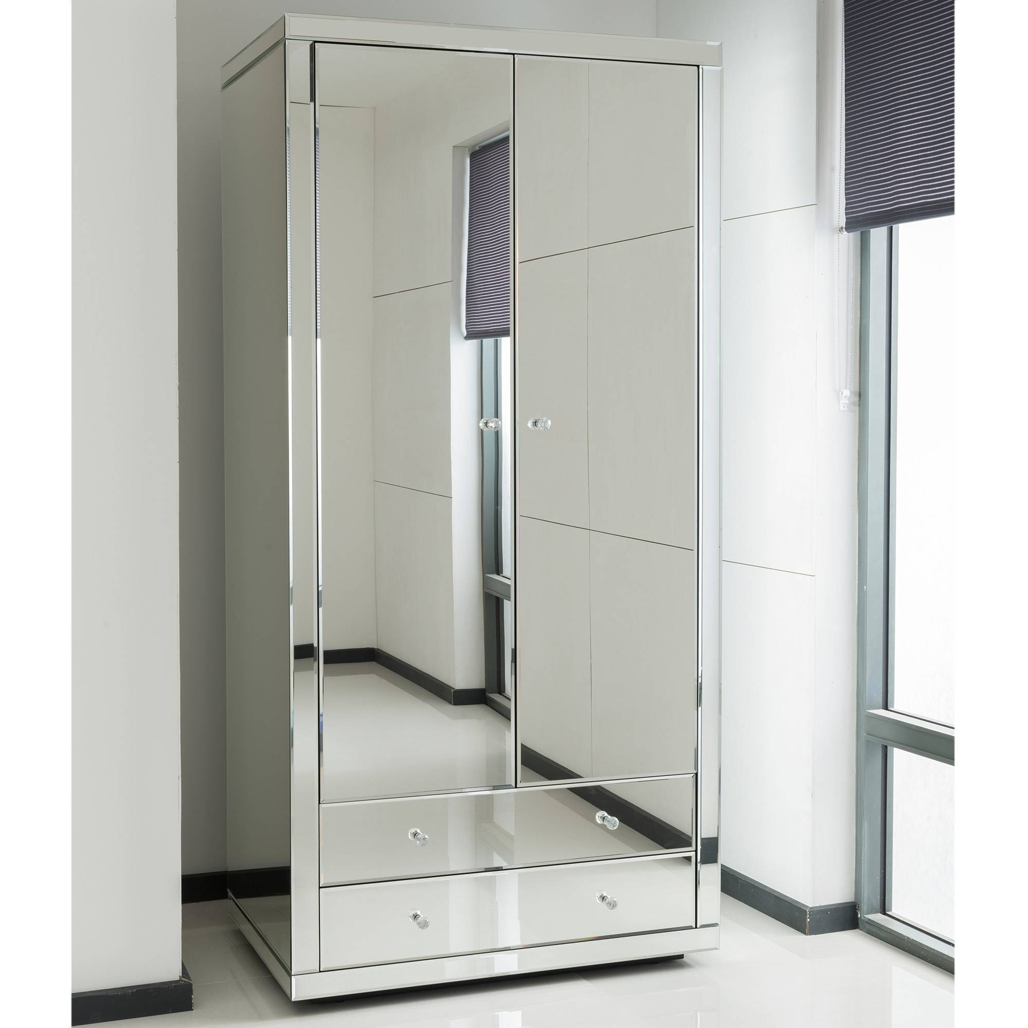Mirrored Wardrobe Sliding Doors - Mirrored Wardrobe Designs For with Full Mirrored Wardrobes (Image 8 of 15)