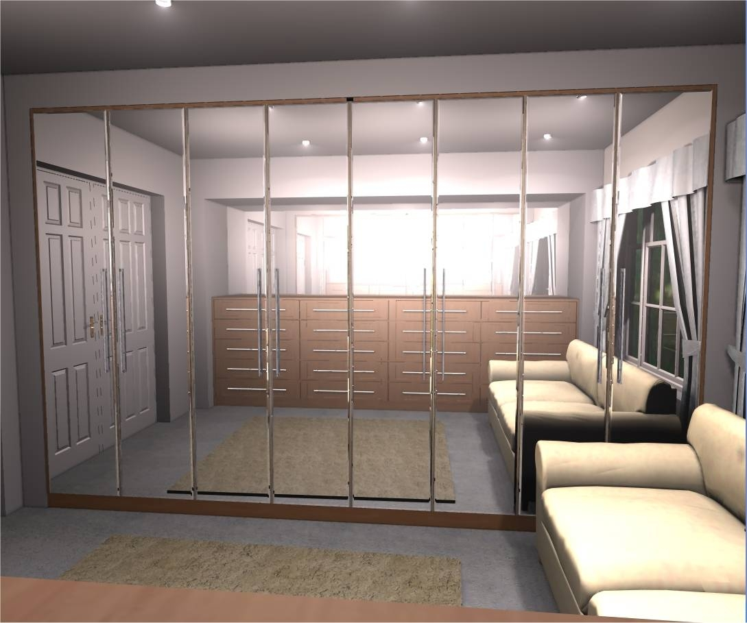 Mirrored Wardrobes – White Mill Furniture Design with Mirrored Wardrobes (Image 9 of 15)