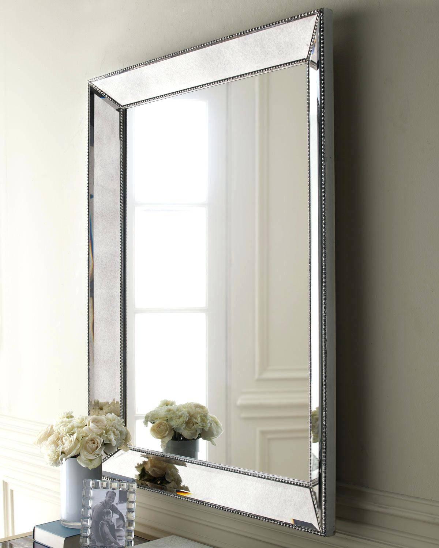 Mirrorlarge Round Frameless Wall Mirror Large – Shopwiz With Large Frameless Wall Mirrors (View 19 of 25)