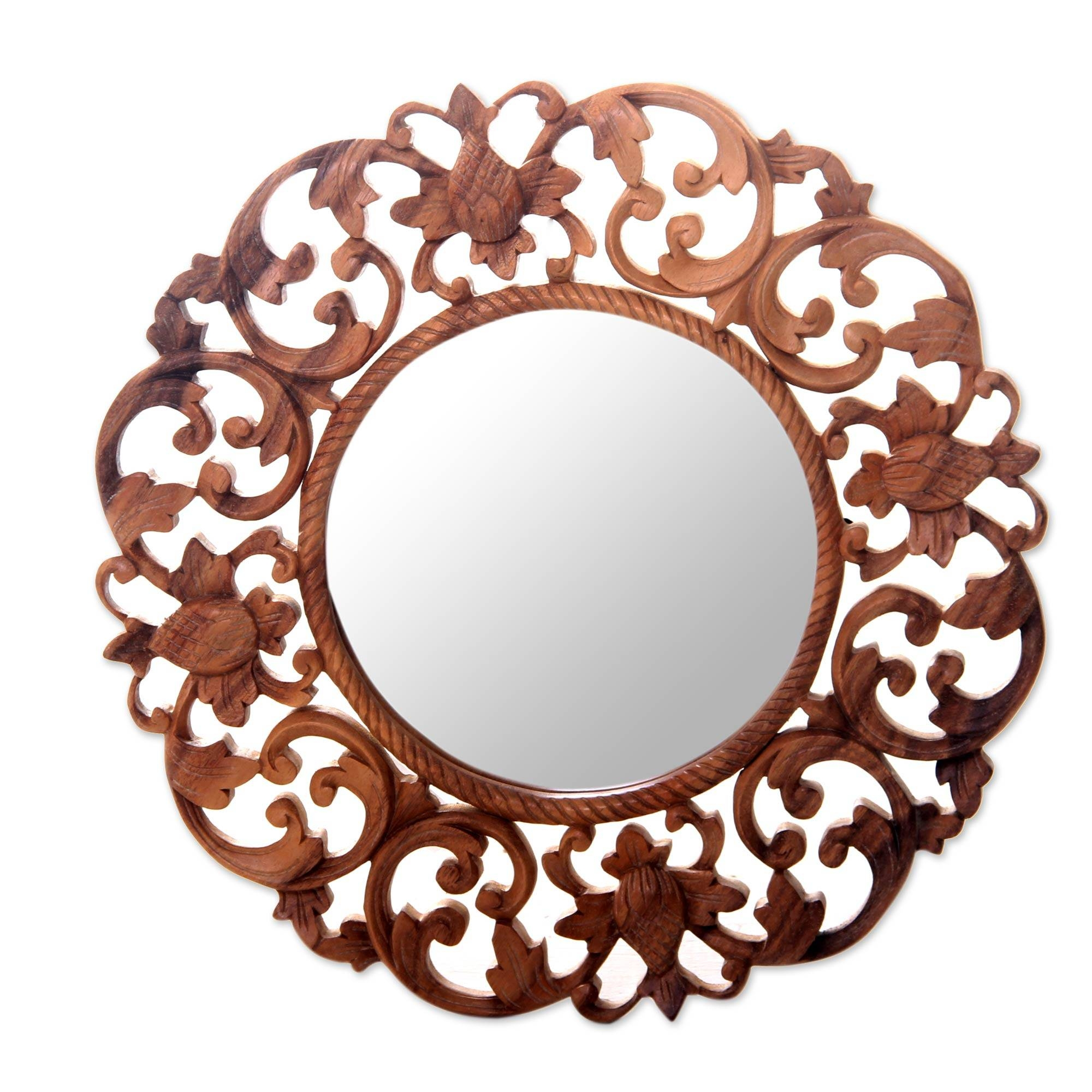 Mirrors - Decorative Global & Antique-Style Wall Mirrors - Novica with regard to Ornate Round Mirrors (Image 15 of 25)