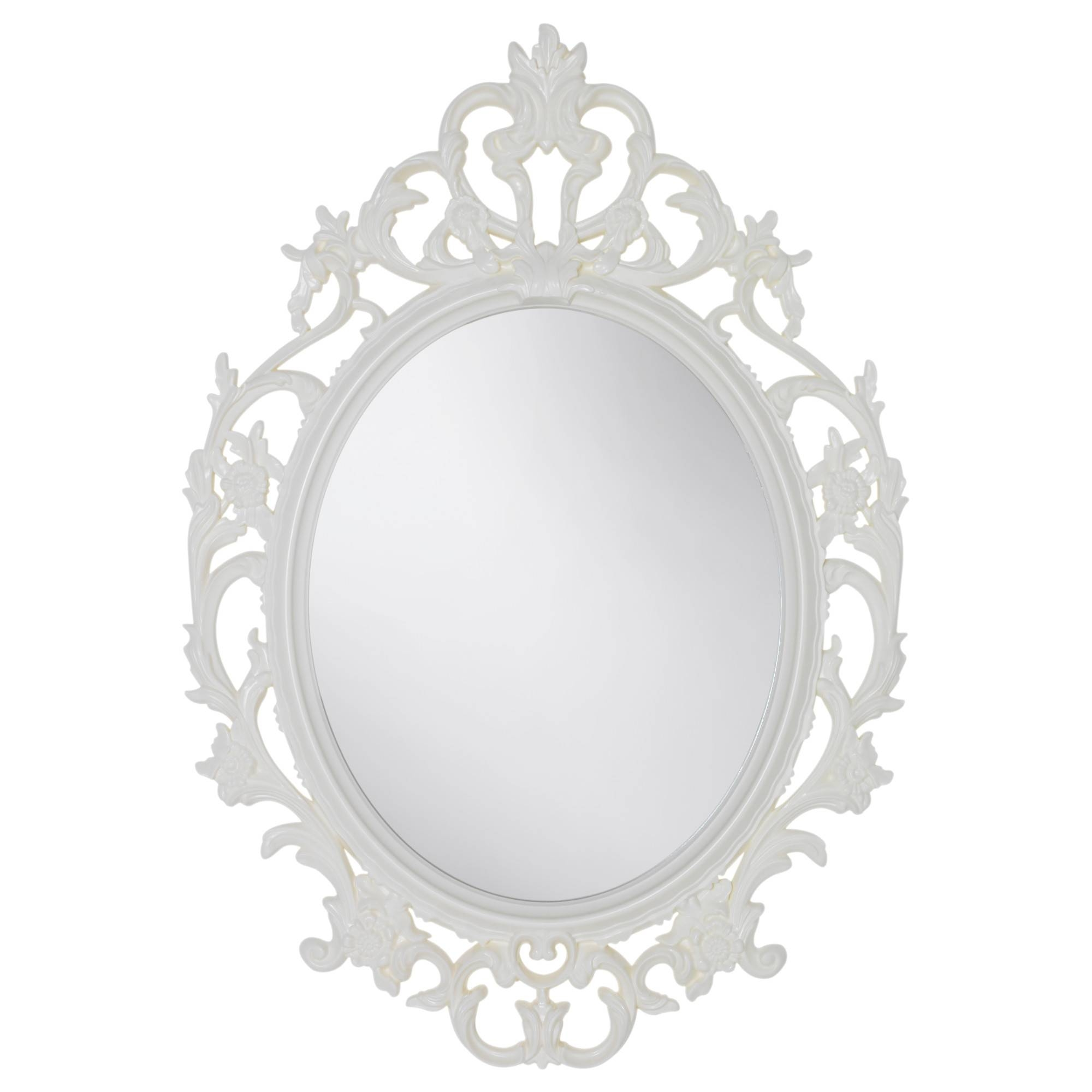 Mirrors - Floor, Table & Wall Mirrors - Ikea with Baroque White Mirrors (Image 16 of 25)