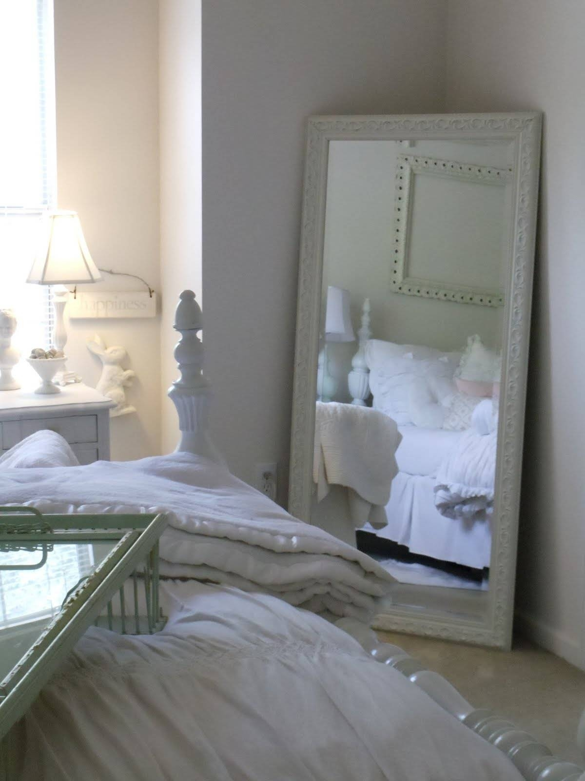 Mirrors For Bedroom regarding Big White Mirrors (Image 19 of 25)