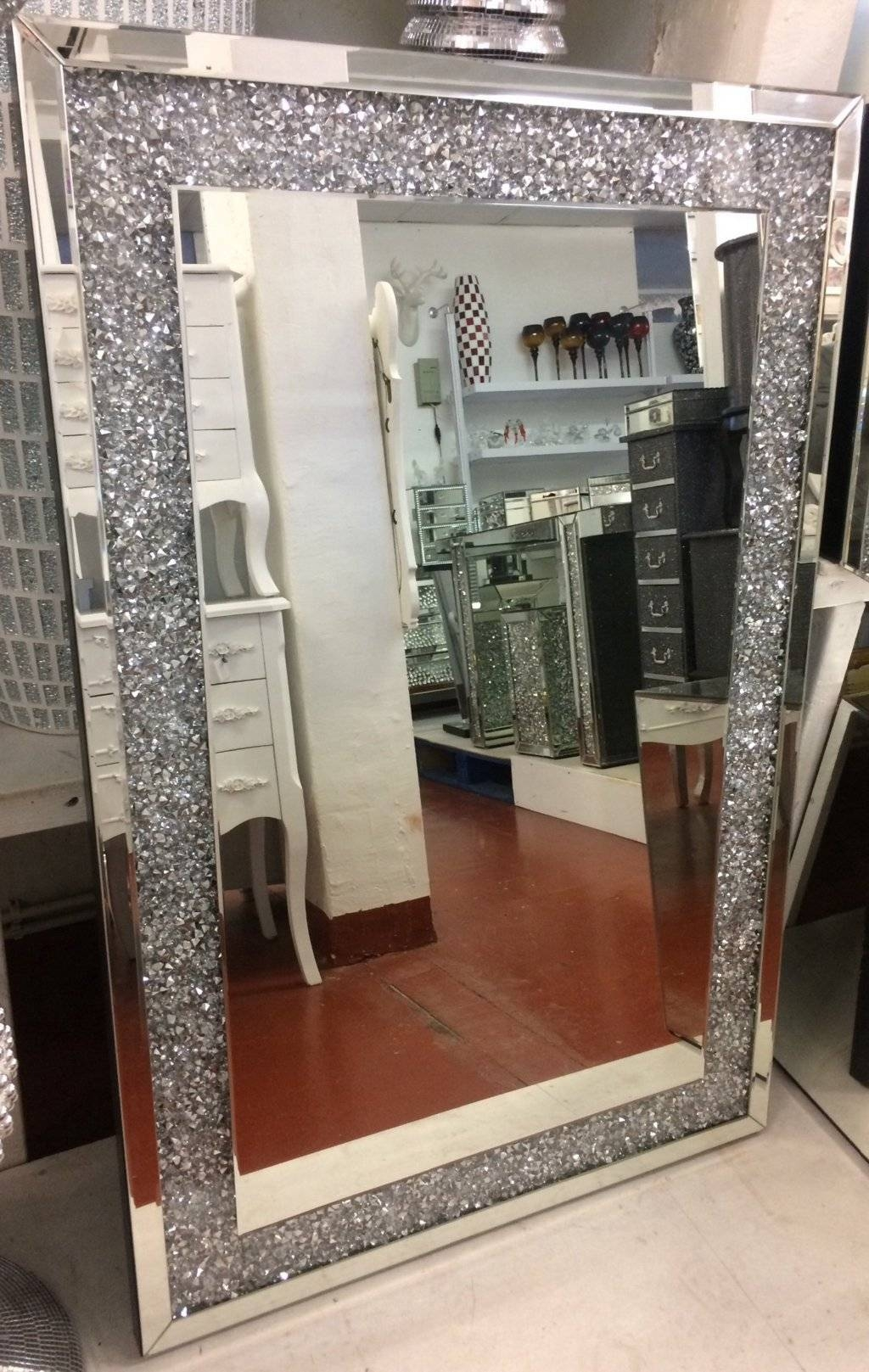 Mirrors: Inspiring Sparkle Wall Mirror Sparkle Mirror, Glitter with regard to Glitter Frame Mirrors (Image 21 of 25)
