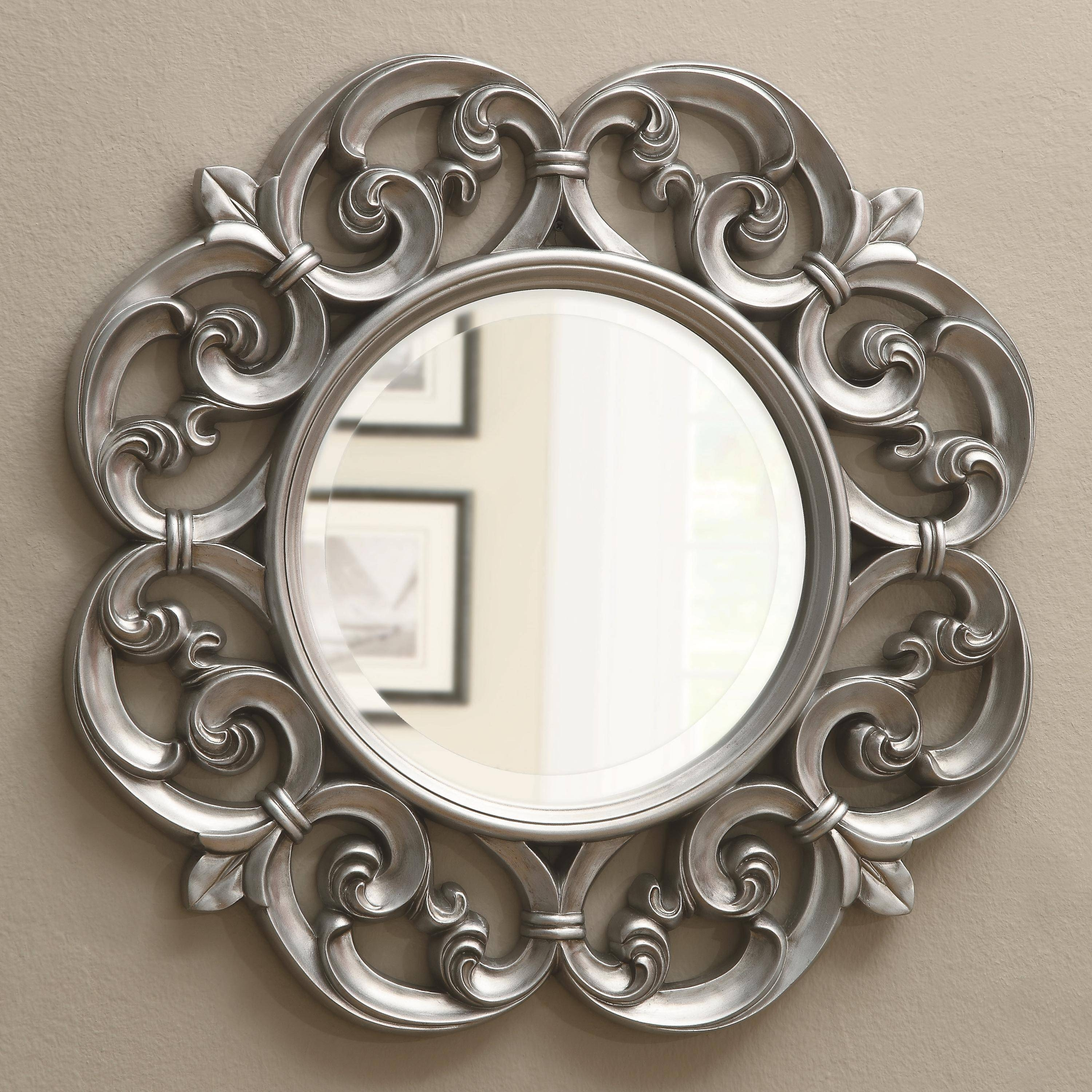 Mirrors Ornate Round Mirror with regard to Ornate Round Mirrors (Image 17 of 25)