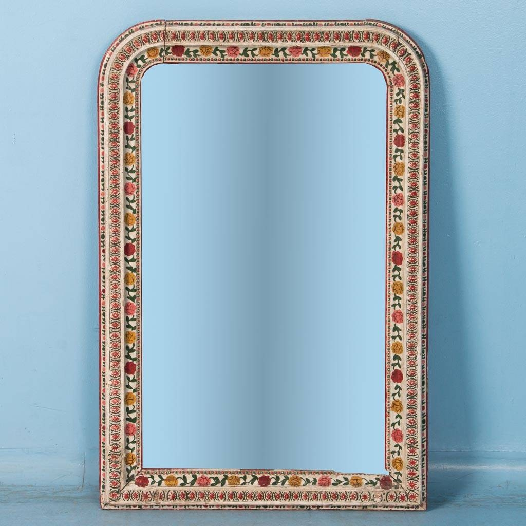 Mirrors | Scandinavian Antiques | Antique Mirrors in Mirrors With Blue Frame (Image 18 of 25)