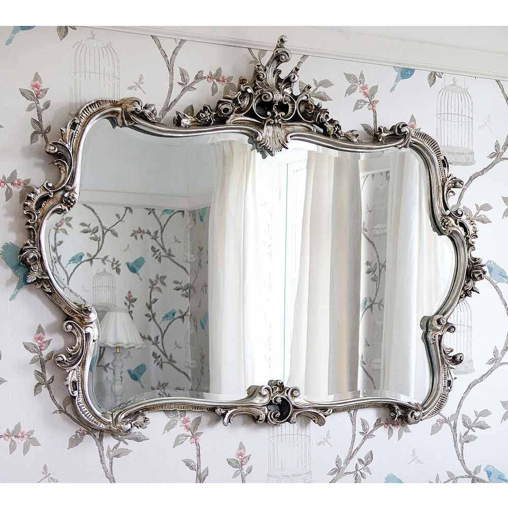 Miss Lala's Silver Looking Glass | Luxury Mirror Pertaining To French Wall Mirrors (View 16 of 25)