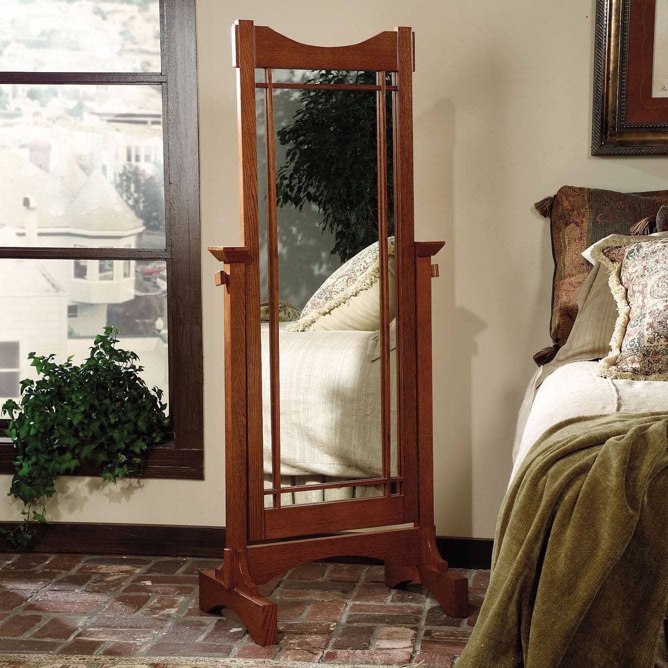 Mission Style Oak Cheval Mirror | Sturbridge Yankee Workshop pertaining to Cheval Mirrors (Image 22 of 25)