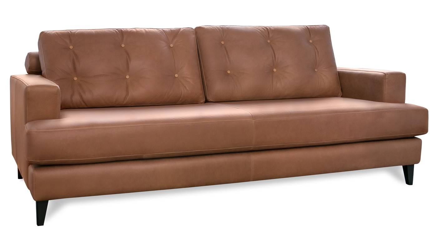 Mistral 4 Seater Sofa Leather Cognac Black Feet Inside 4 Seat Leather Sofas (View 17 of 30)