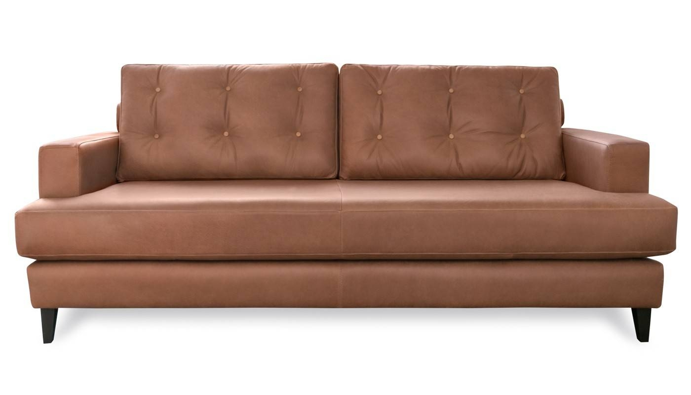 Mistral 4 Seater Sofa Leather Cognac Black Feet Throughout 4 Seat Leather Sofas (View 12 of 30)