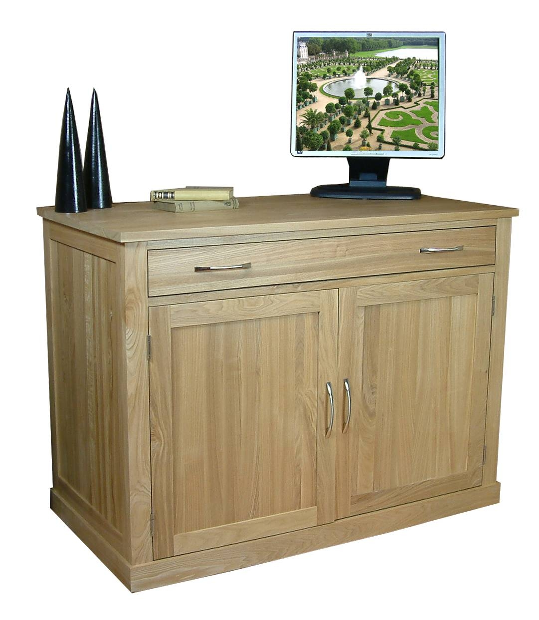 Mobel Oak Hidden Office Desk | Study Furniture for Ready Assembled Sideboards (Image 19 of 30)
