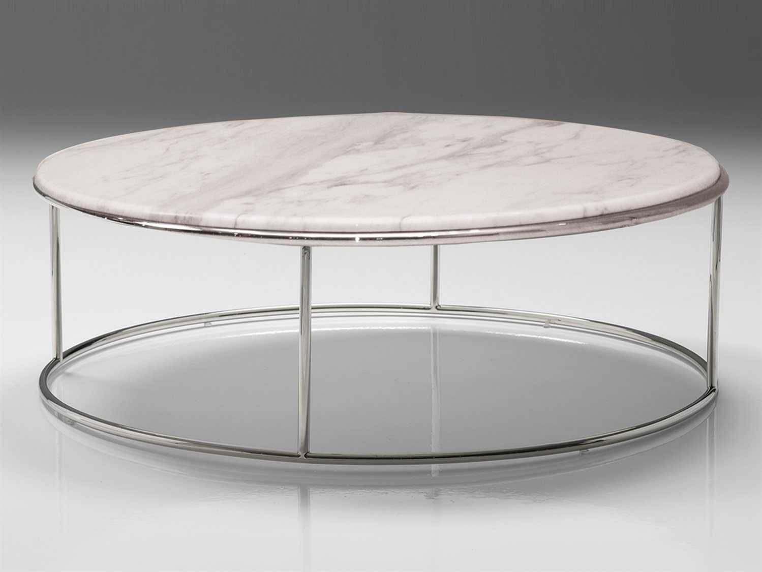 Mobital Elysee 39 Round Marble Coffee Table | Mbwcoelysmarb pertaining to White Marble Coffee Tables (Image 22 of 30)