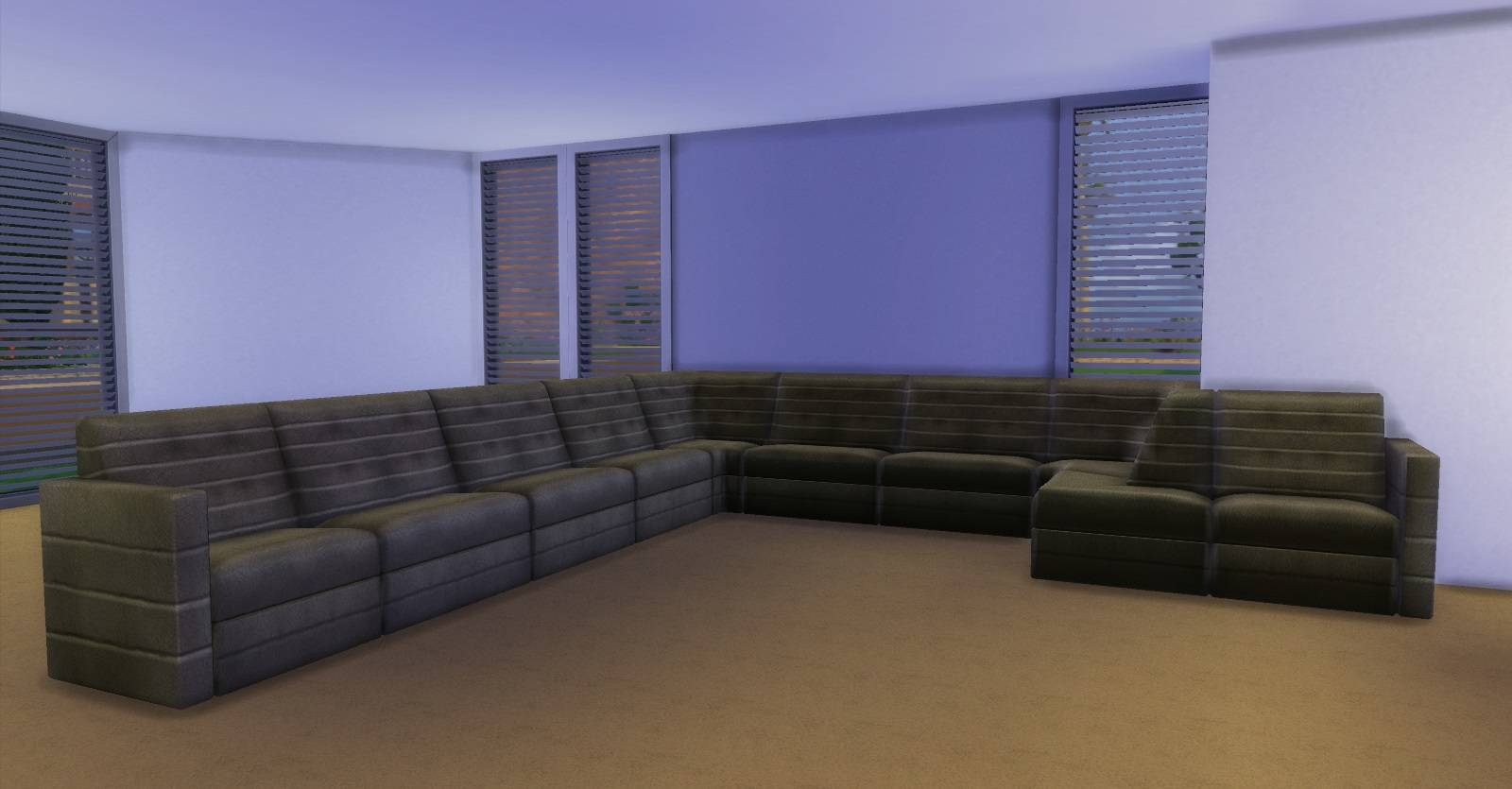 Mod The Sims - Sectional Living with Mod Sofas (Image 10 of 30)