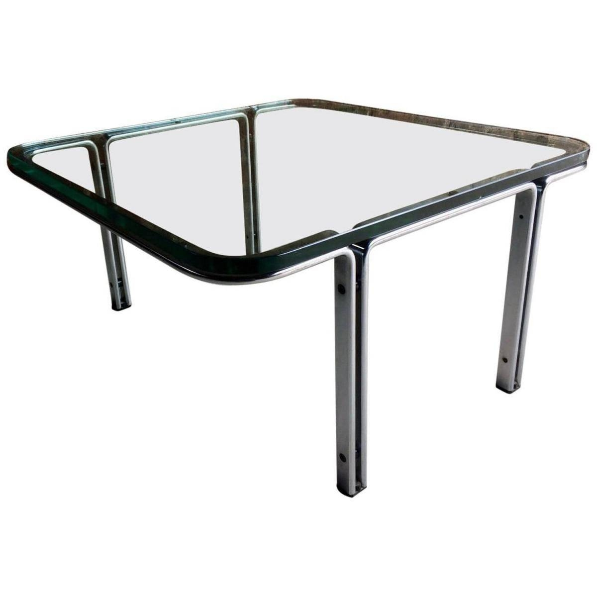 Model T111 Square Steel & Glass Coffee Tablehorst Brüning For Intended For Steel And Glass Coffee Tables (View 19 of 30)