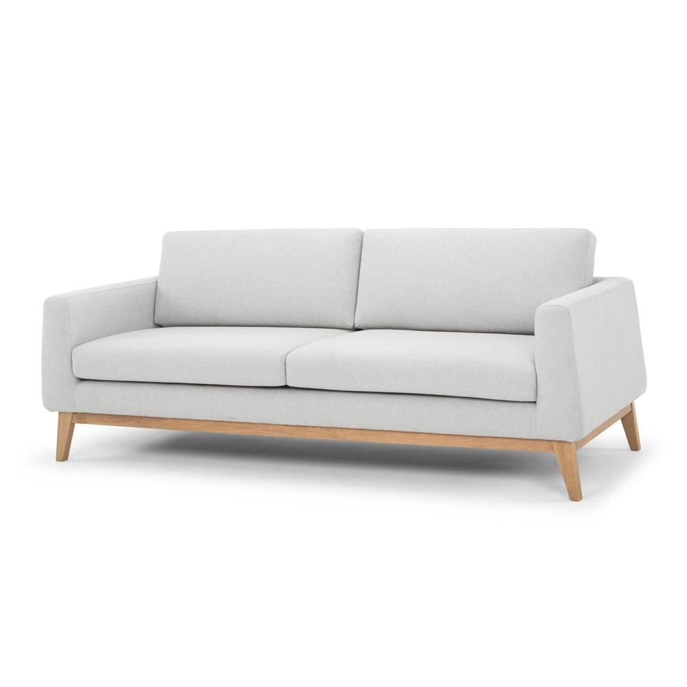Modern 3 Seater Sofa - Pale Grey intended for Modern 3 Seater Sofas (Image 19 of 30)