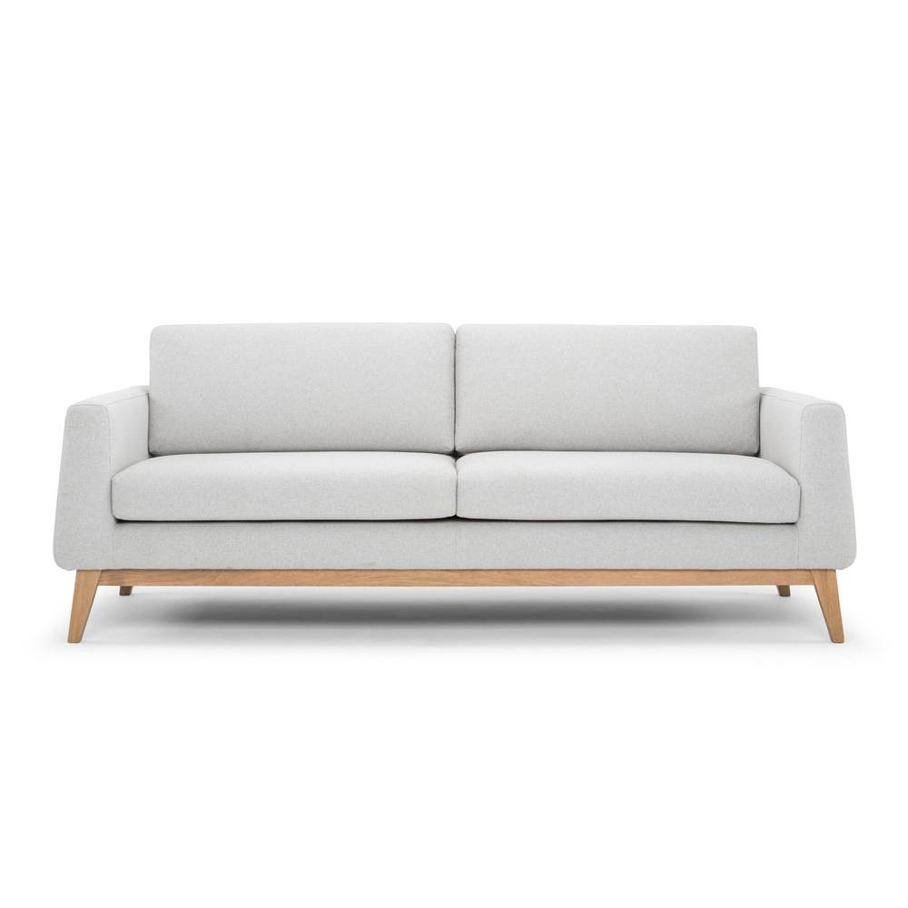 Modern 3 Seater Sofa - Pale Grey pertaining to Modern 3 Seater Sofas (Image 20 of 30)