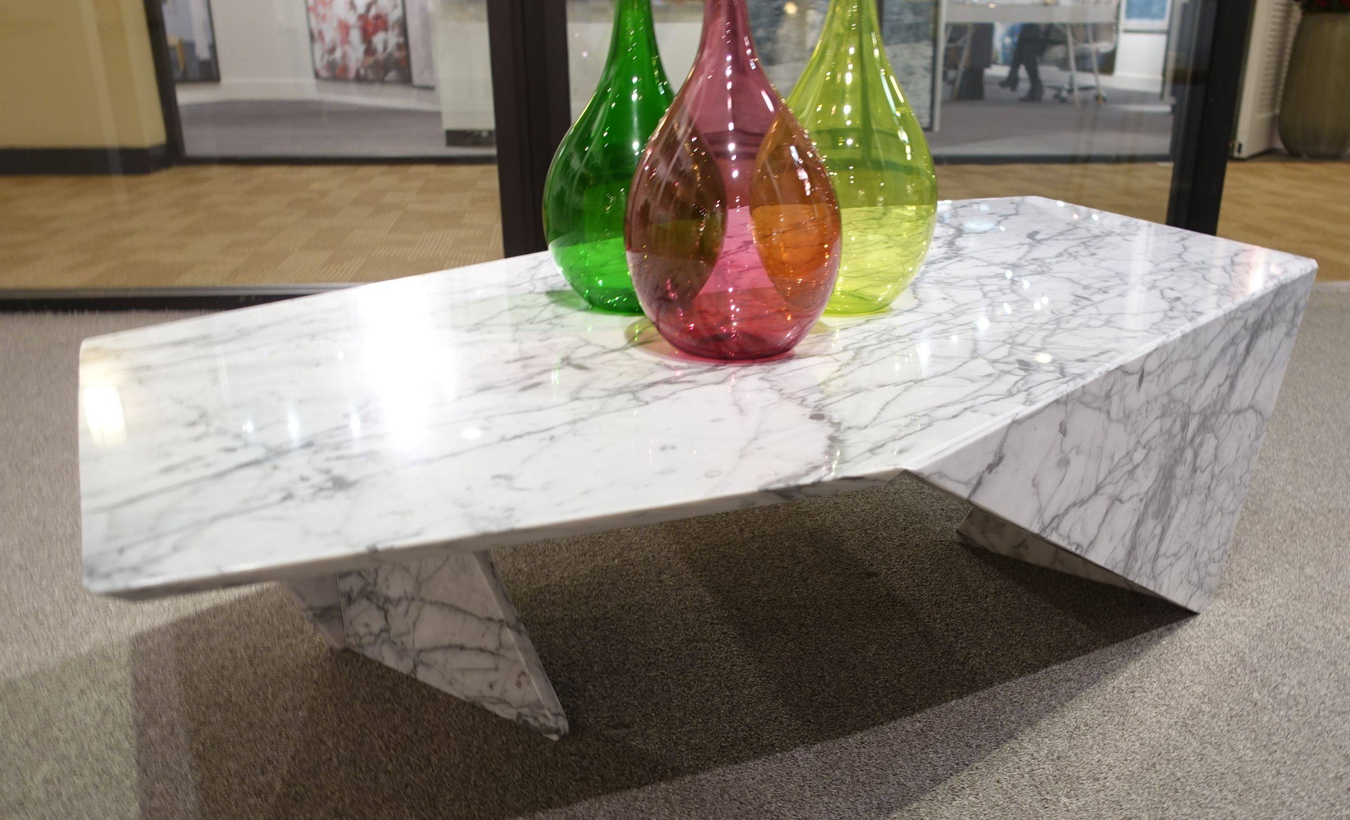 Modern Abstract Marble Coffee Table - Mecox Gardens with regard to Marble Coffee Tables (Image 27 of 30)