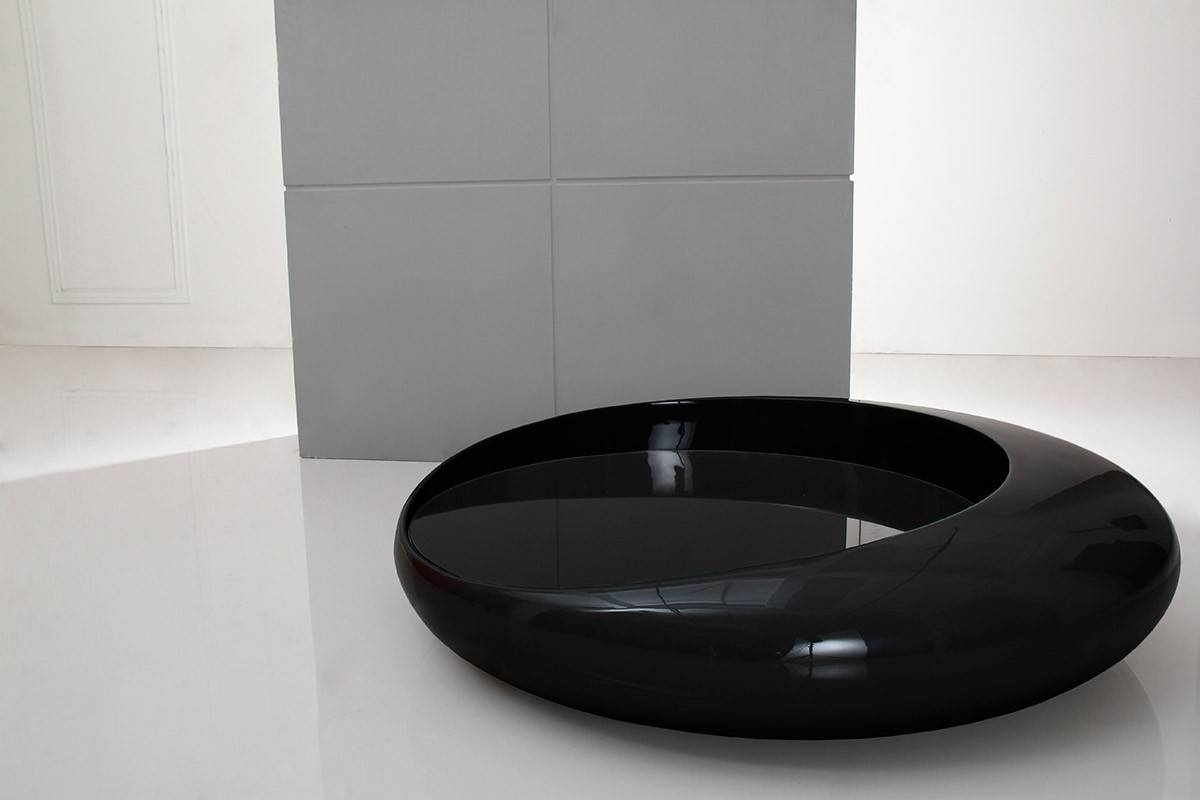 Modern Black Coffee Table With Regard To Space Coffee Tables (View 14 of 30)