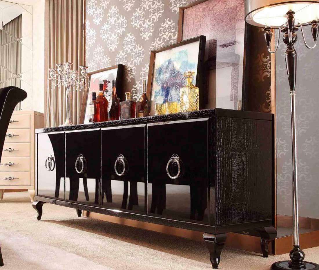 Modern Buffets | Contemporary Stations in Black And Walnut Sideboards (Image 22 of 30)