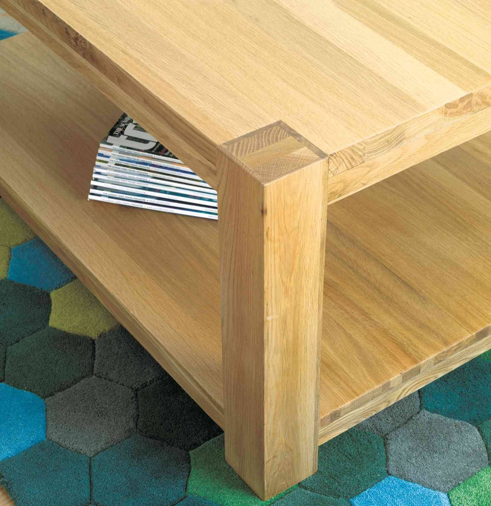 Modern Chunky Oak Coffee Table Large | Hampshire Furniture intended for Chunky Oak Coffee Tables (Image 24 of 30)