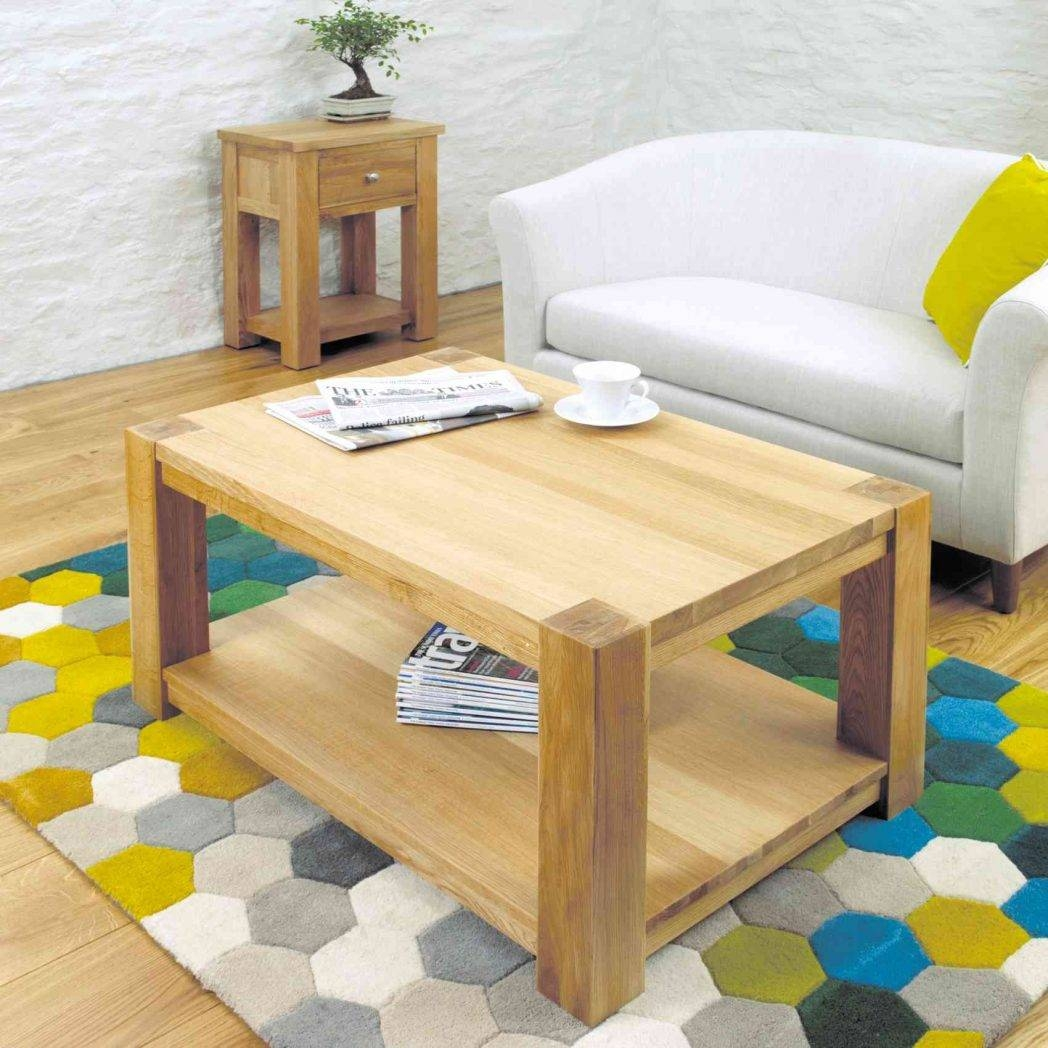 Modern Chunky Oak Coffee Table Medium Hampshire Furniture Sets regarding Chunky Oak Coffee Tables (Image 25 of 30)