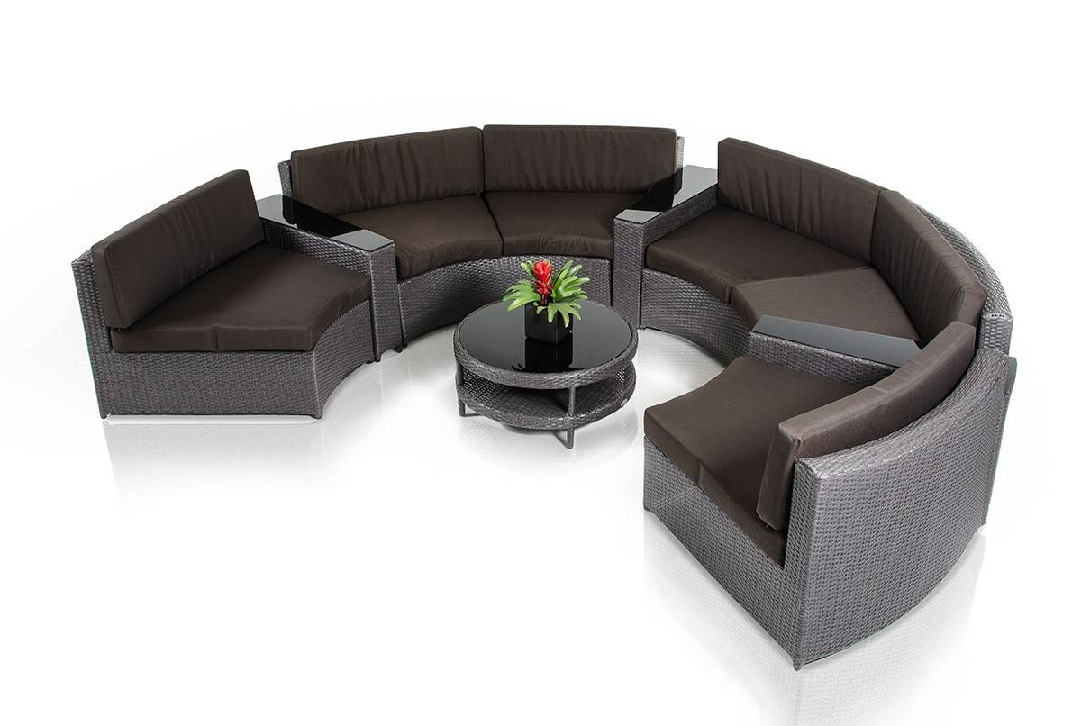 Modern Circular Sectional Sofa Patio Set for Circular Sectional Sofa (Image 20 of 30)