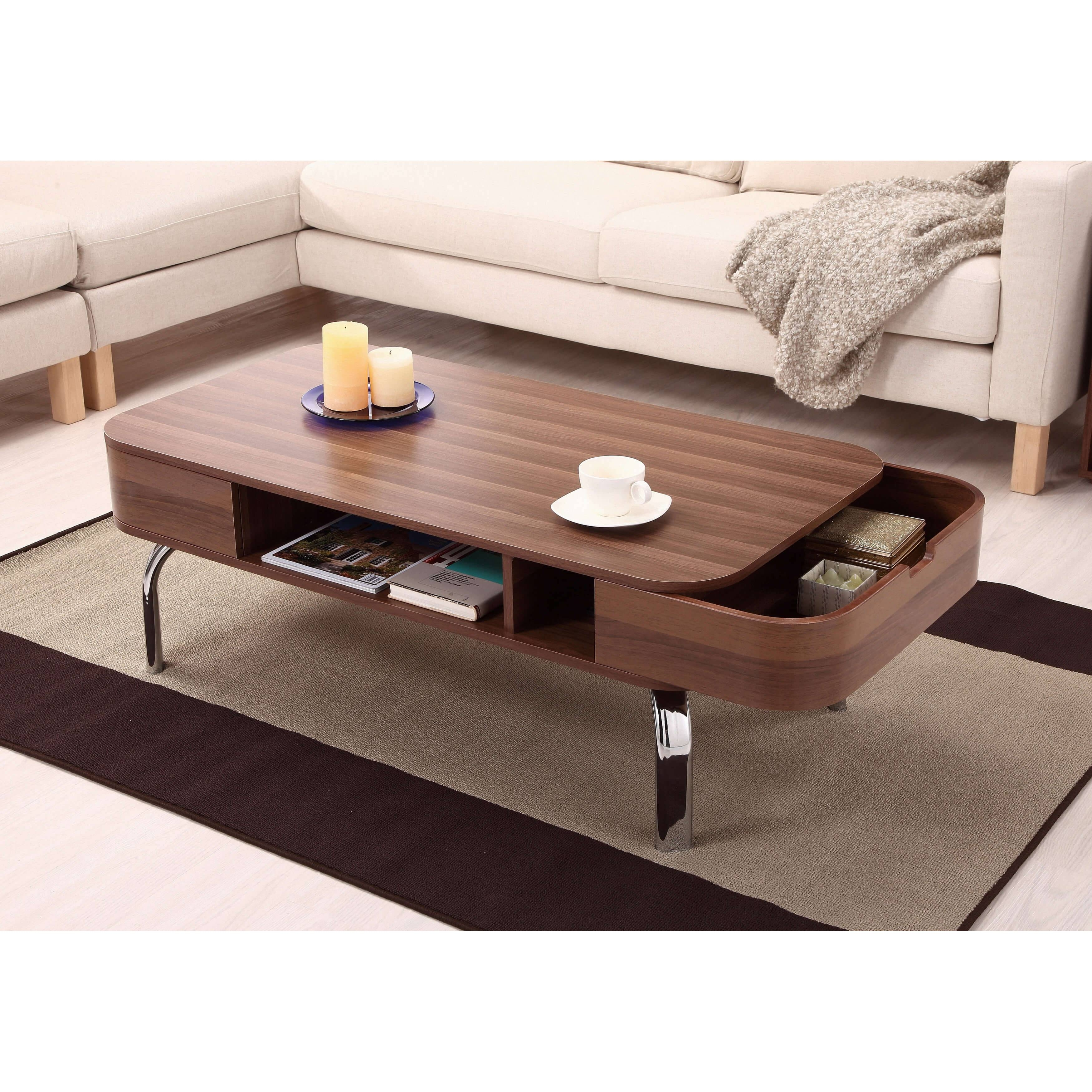 Modern Coffee Table Contemporary Wooden Coffee Tables Brown Finish with Coffee Tables With Oval Shape (Image 19 of 30)